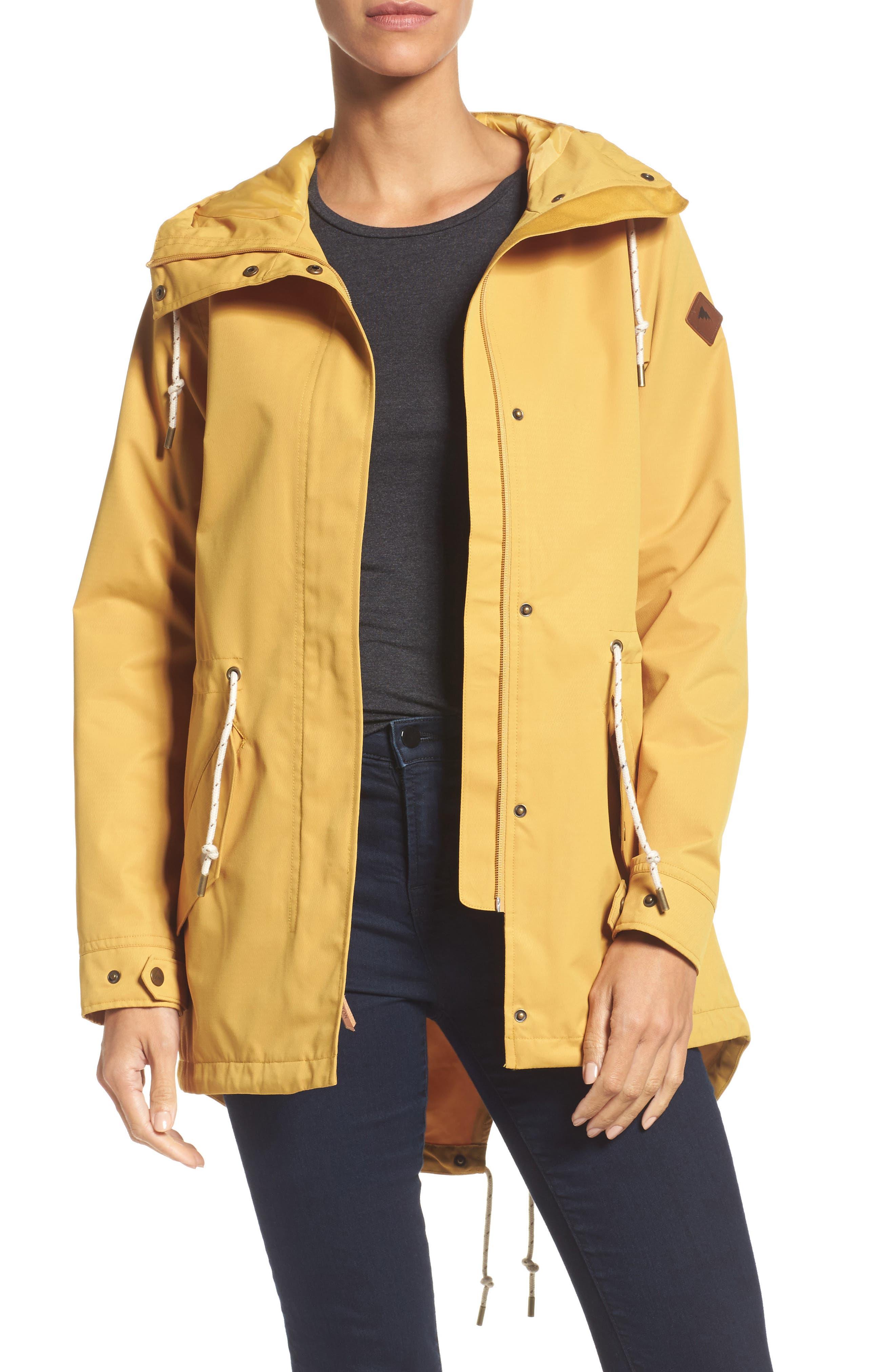 Sadie Waterproof Hooded Jacket,                             Main thumbnail 1, color,                             Harvest Gold