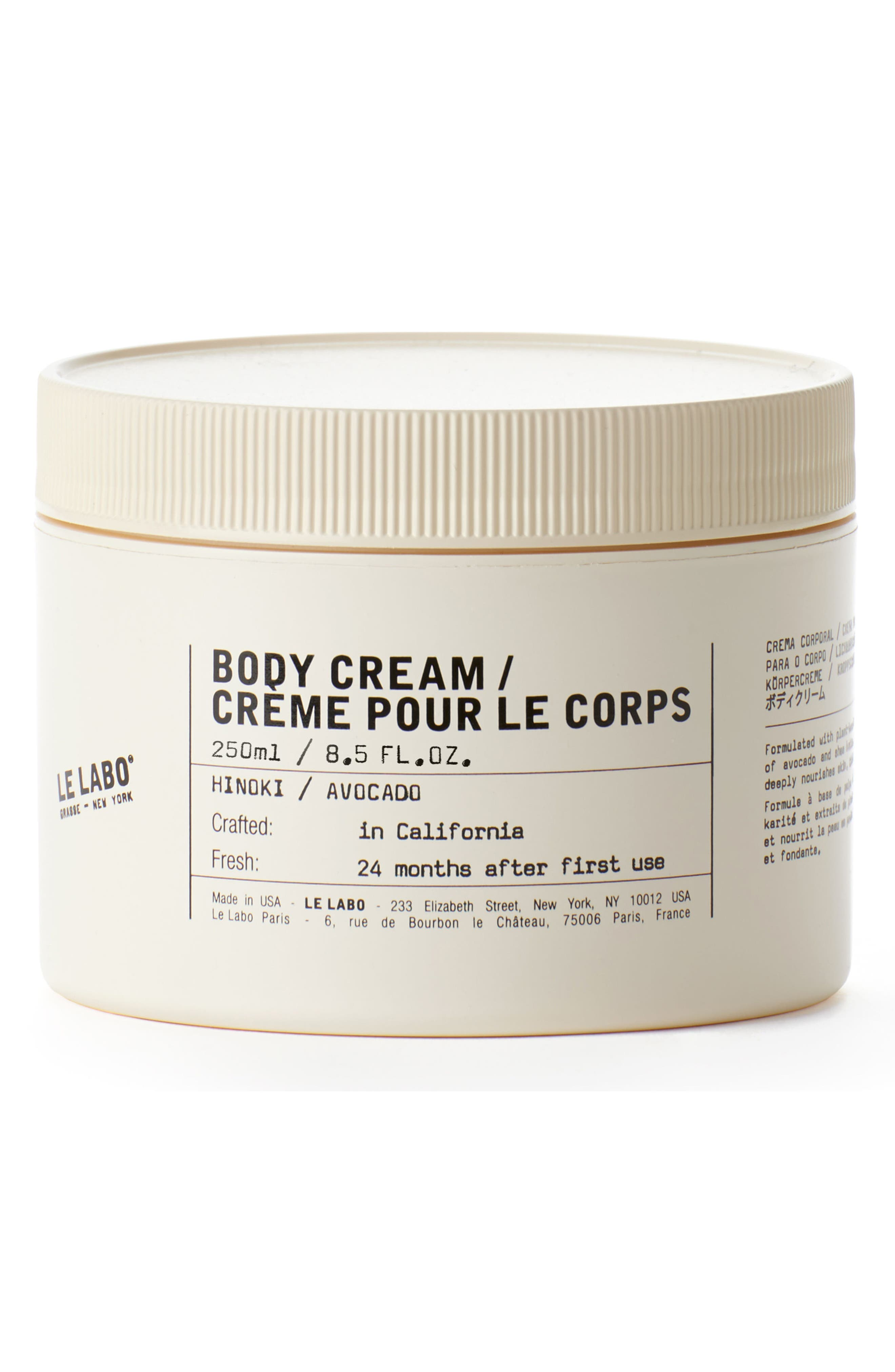 Body Cream Hinoki,                             Main thumbnail 1, color,                             No Color