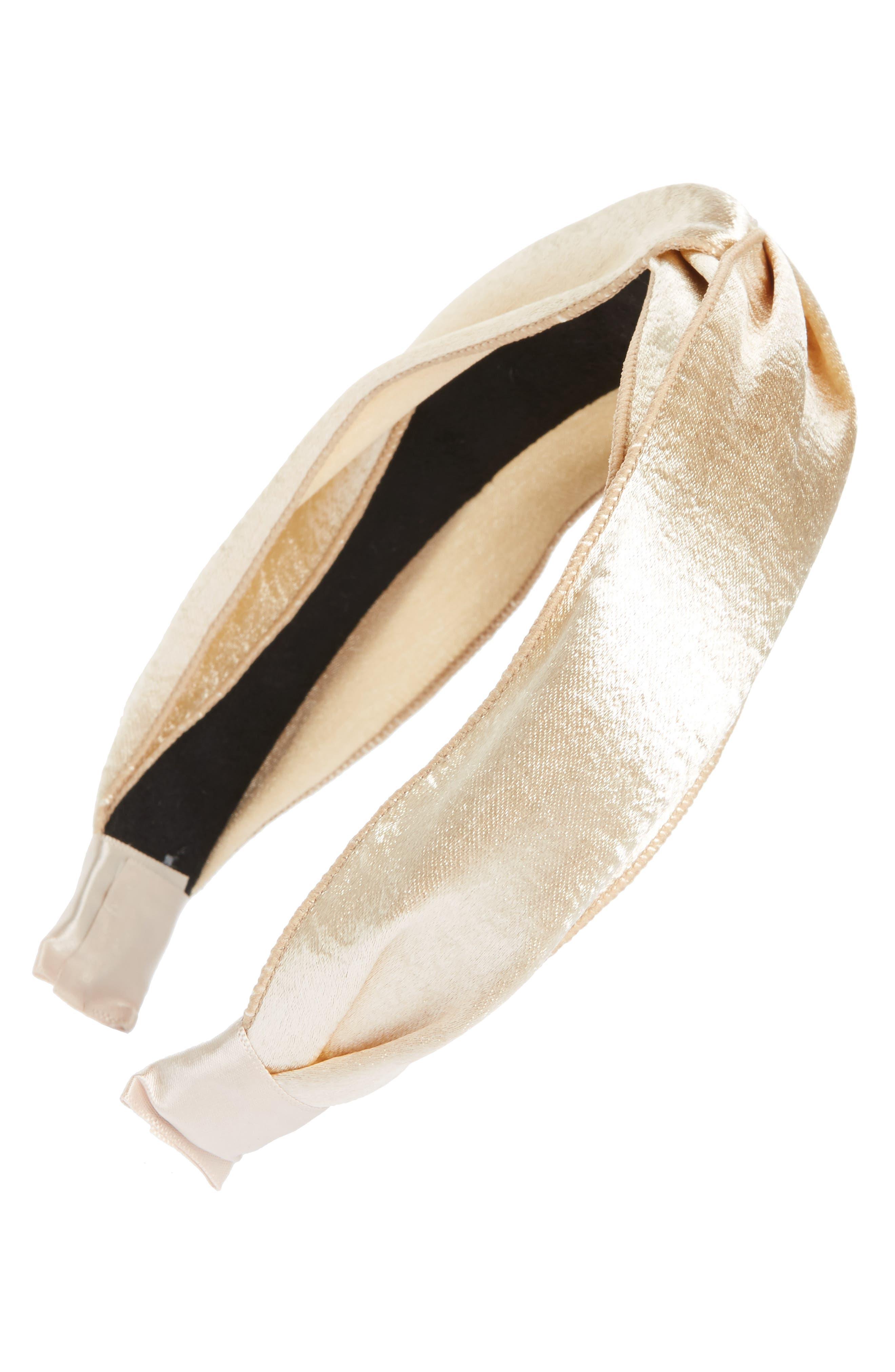 Metallic Twist Knot Headband,                         Main,                         color, Gold