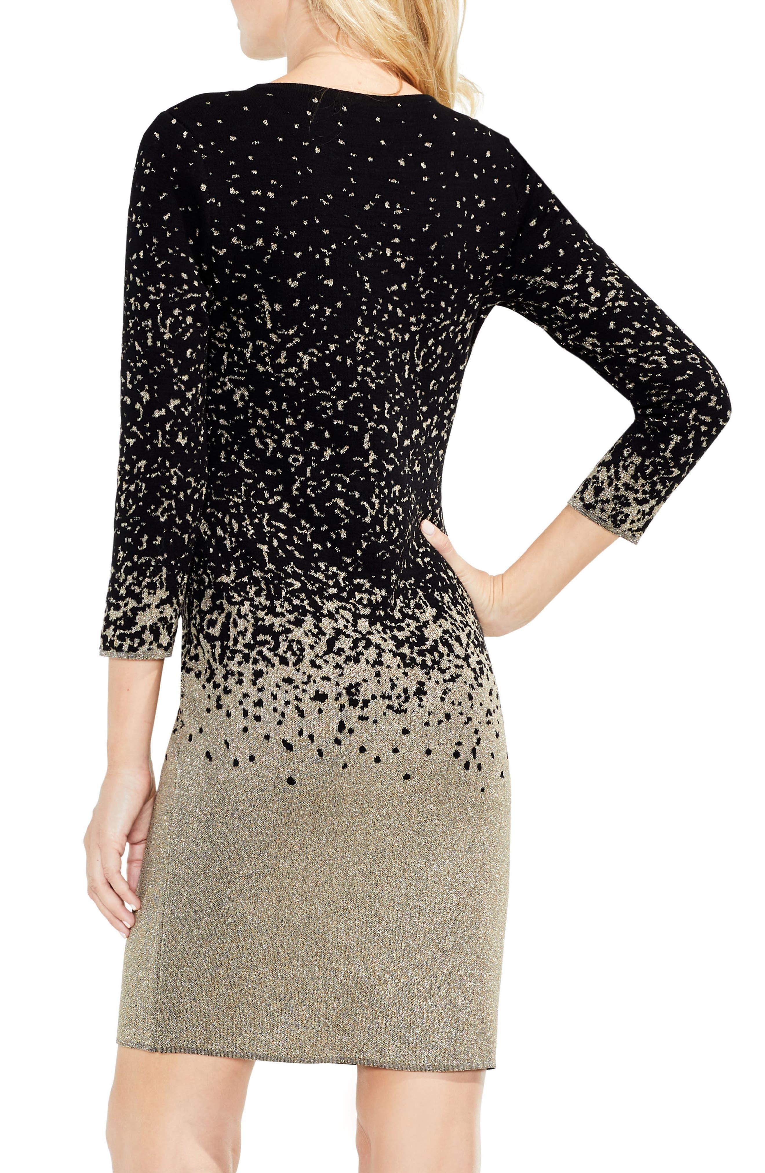 Alternate Image 3  - Vince Camuto Metallic Ombrè Sweater Dress
