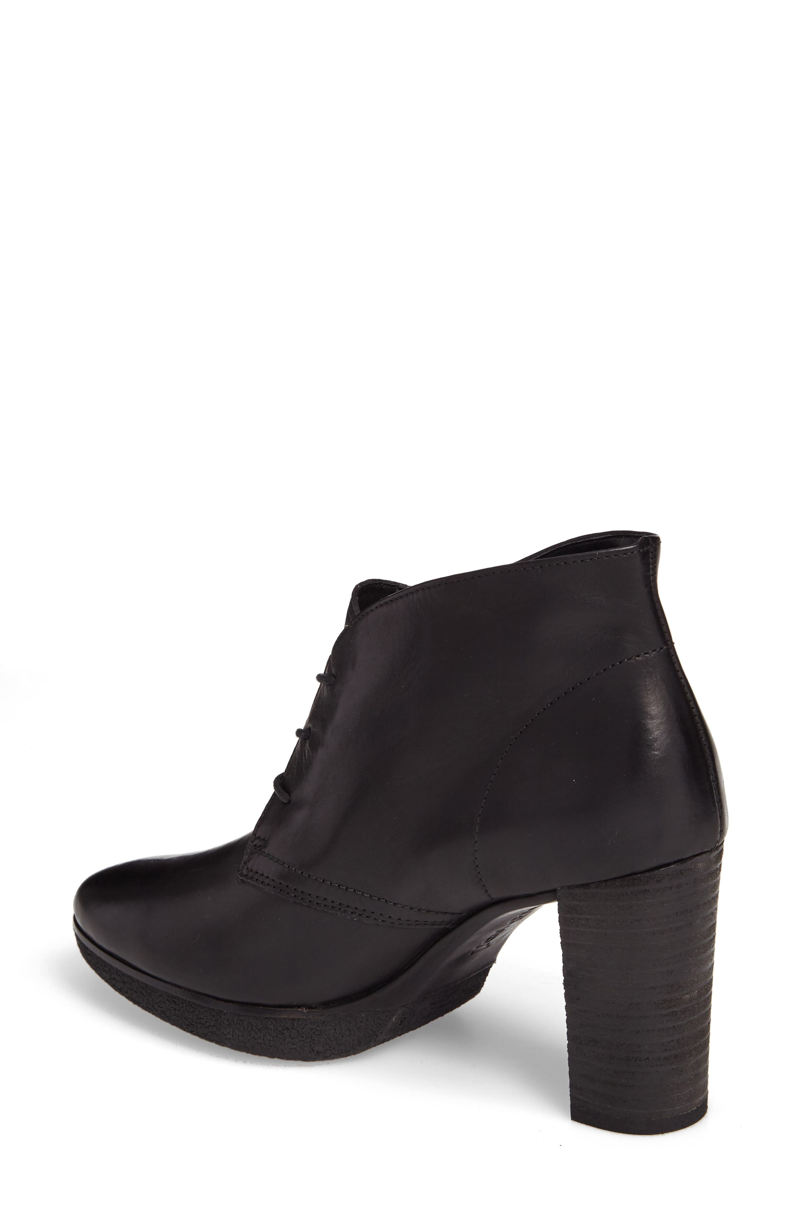 Ophelia Lace-Up Bootie,                             Alternate thumbnail 2, color,                             Black Leather
