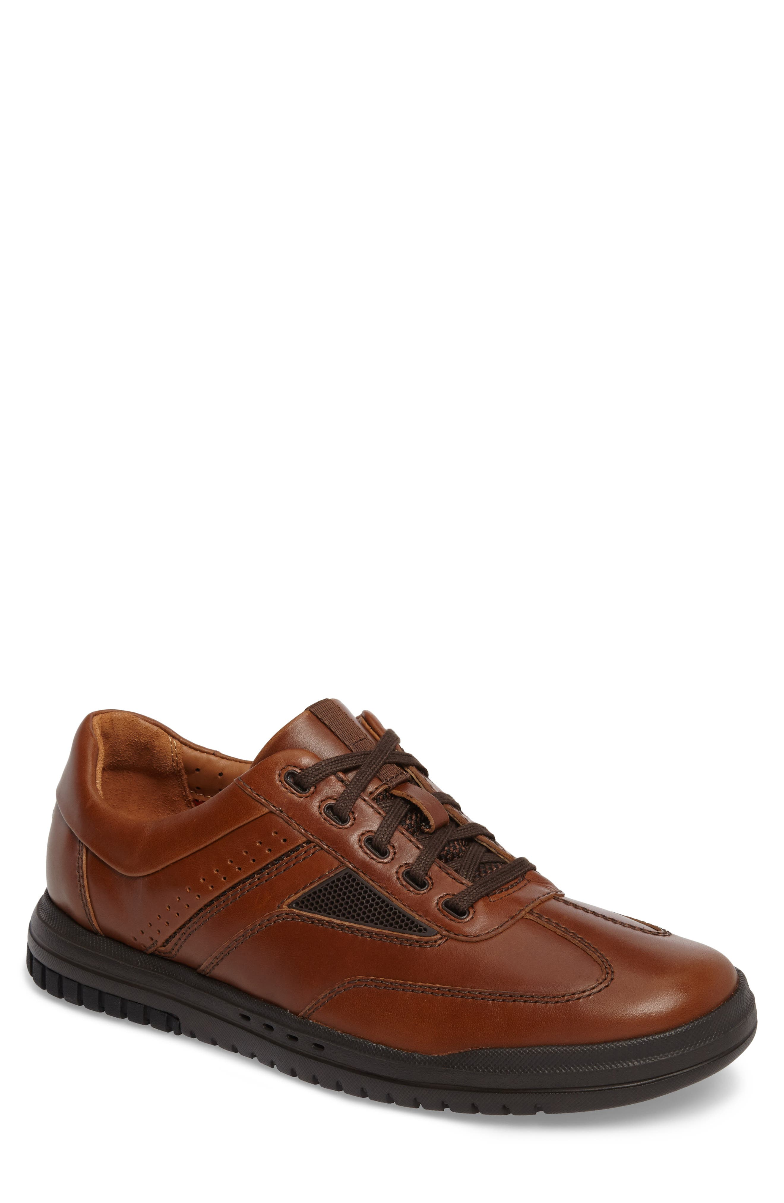 Un.Rhombus Fly Sneaker,                             Main thumbnail 1, color,                             Tan Leather