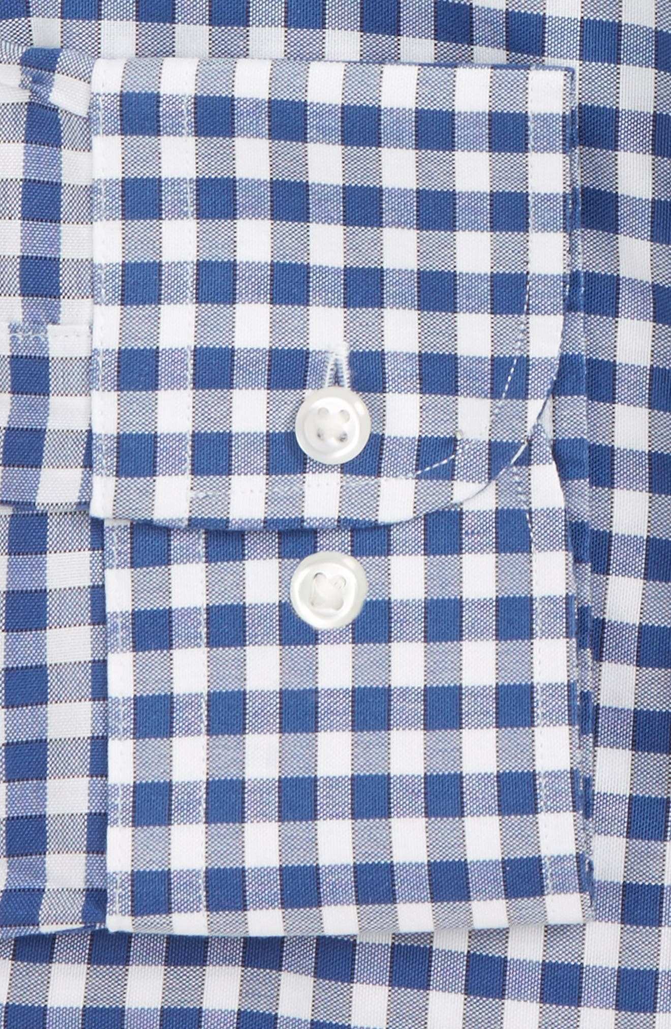 Smartcare<sup>™</sup> Trim Fit Check Dress Shirt,                             Alternate thumbnail 5, color,                             Blue Canal