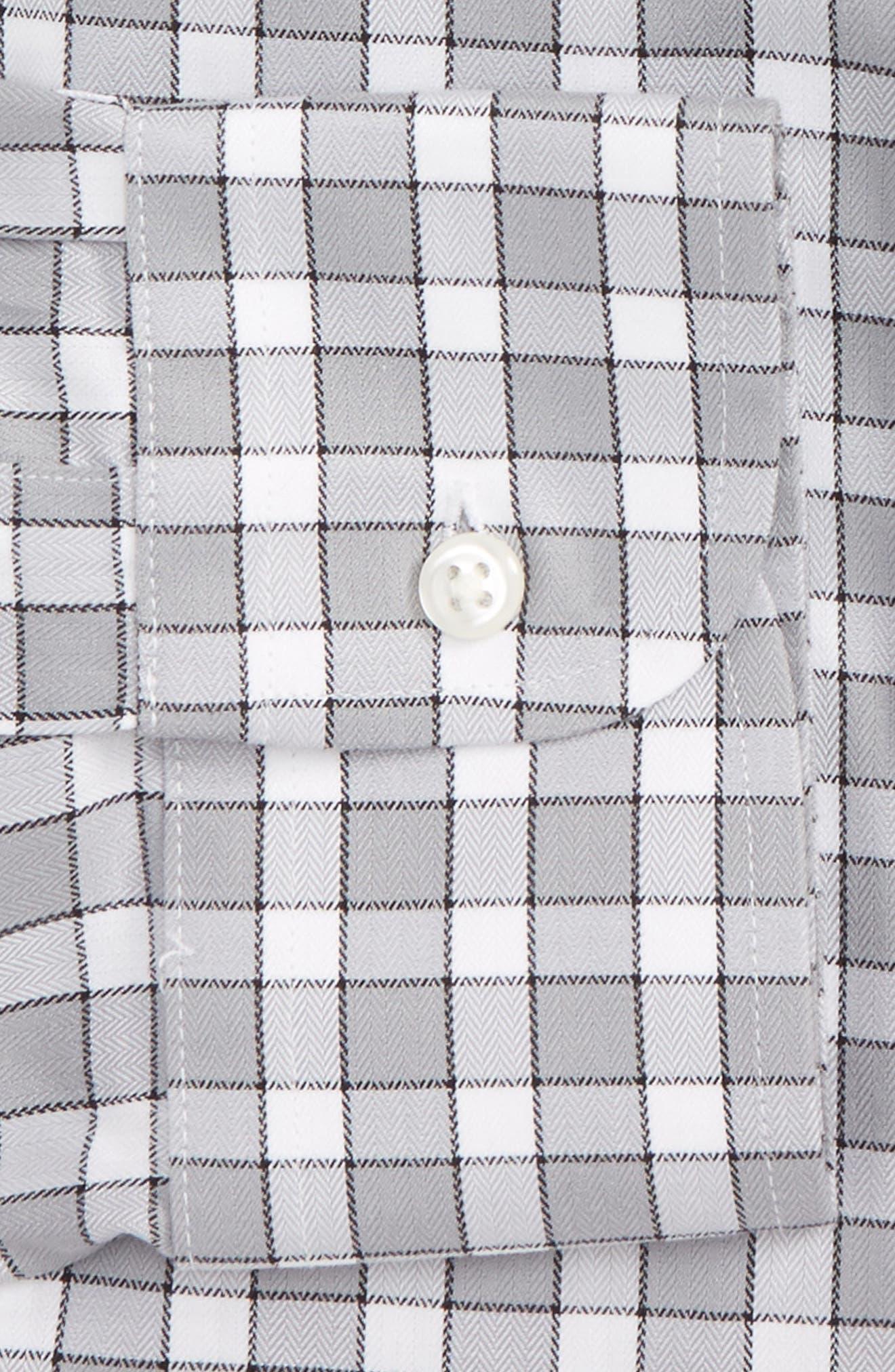 Smartcare<sup>™</sup> Classic Fit Check Dress Shirt,                             Alternate thumbnail 2, color,                             Grey Sleet