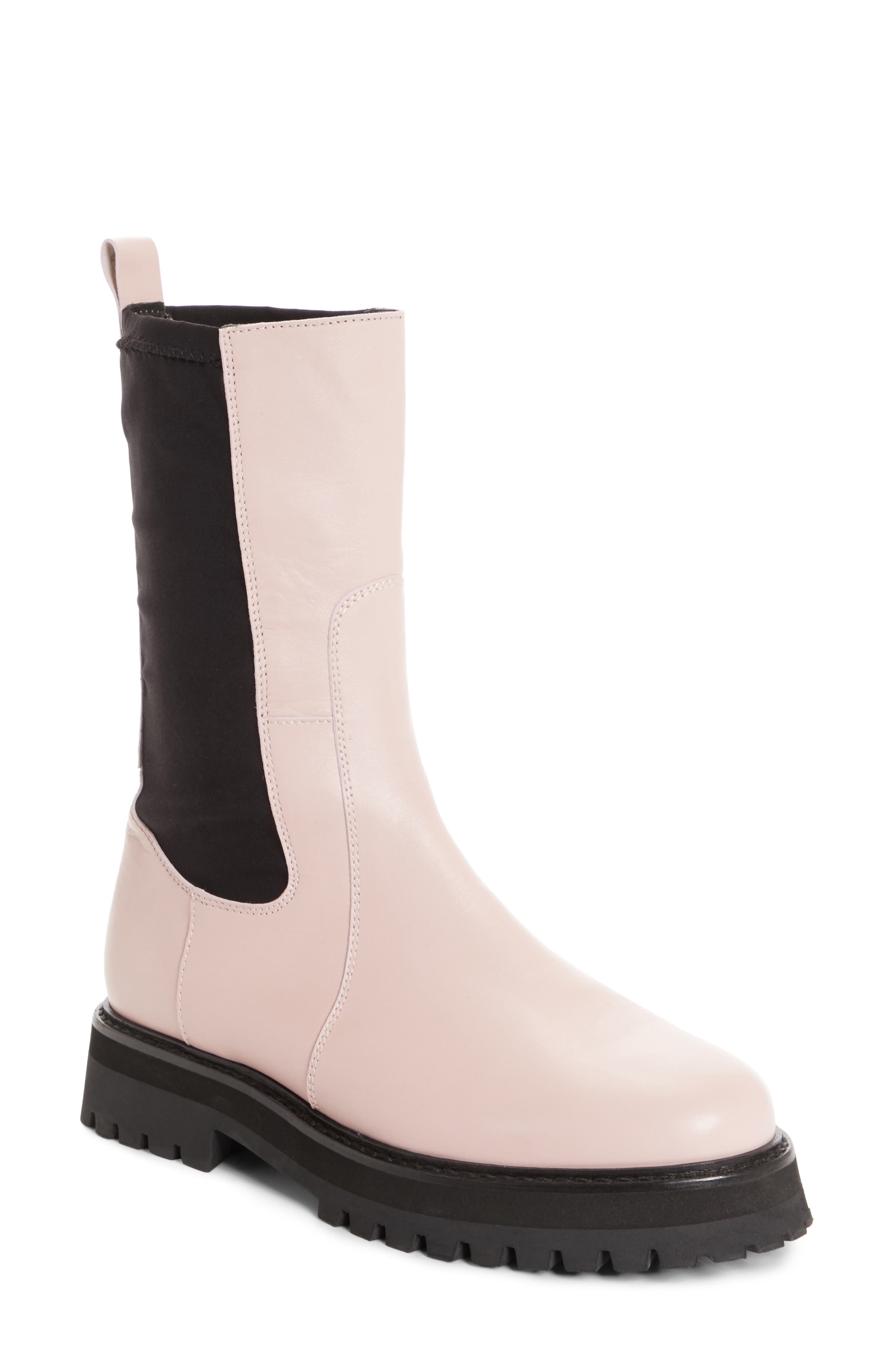 Marques'Almeida Army Boot,                         Main,                         color, Pale Pink