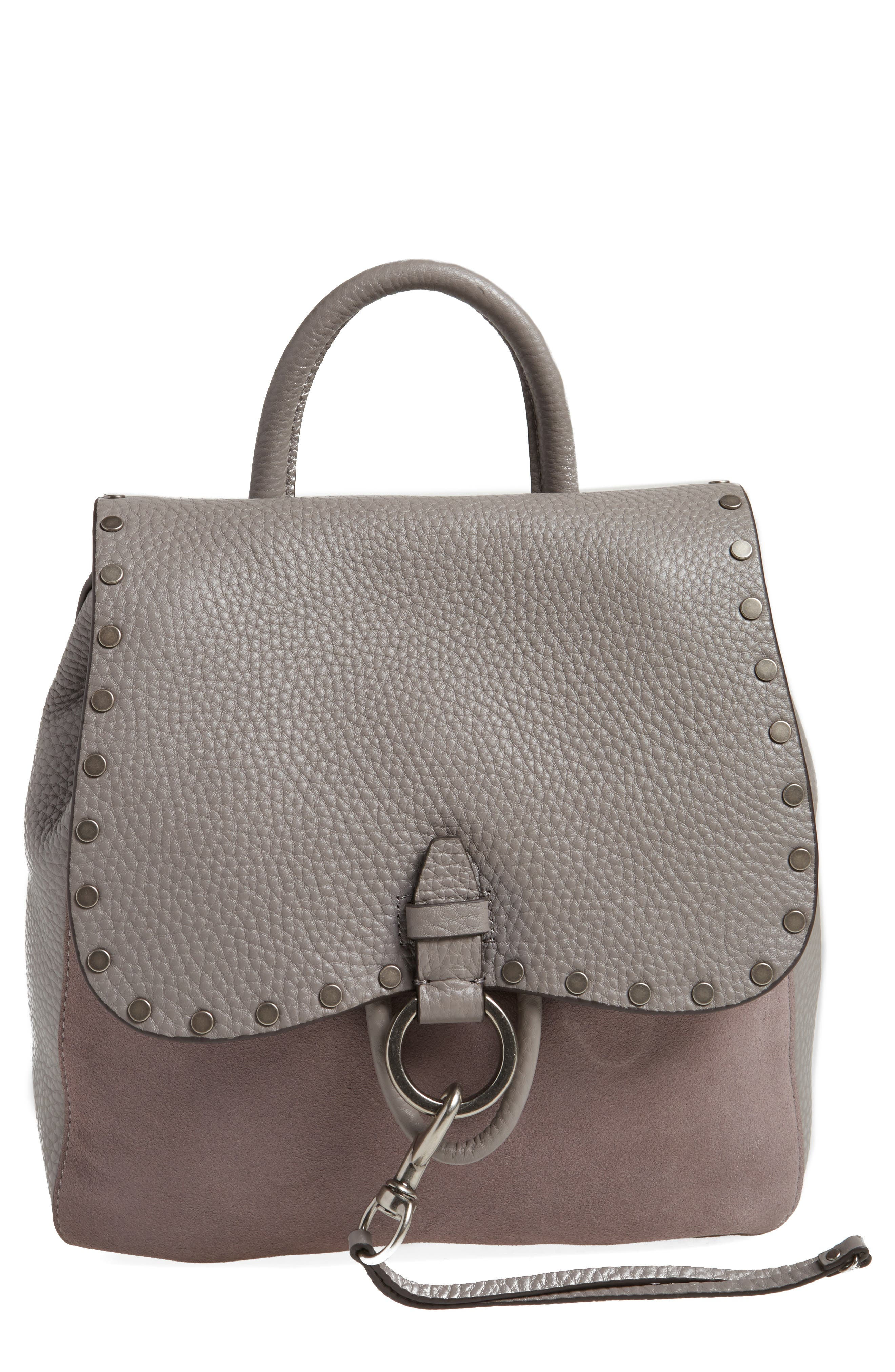 Main Image - Rebecca Minkoff Small Keith Suede & Leather Backpack