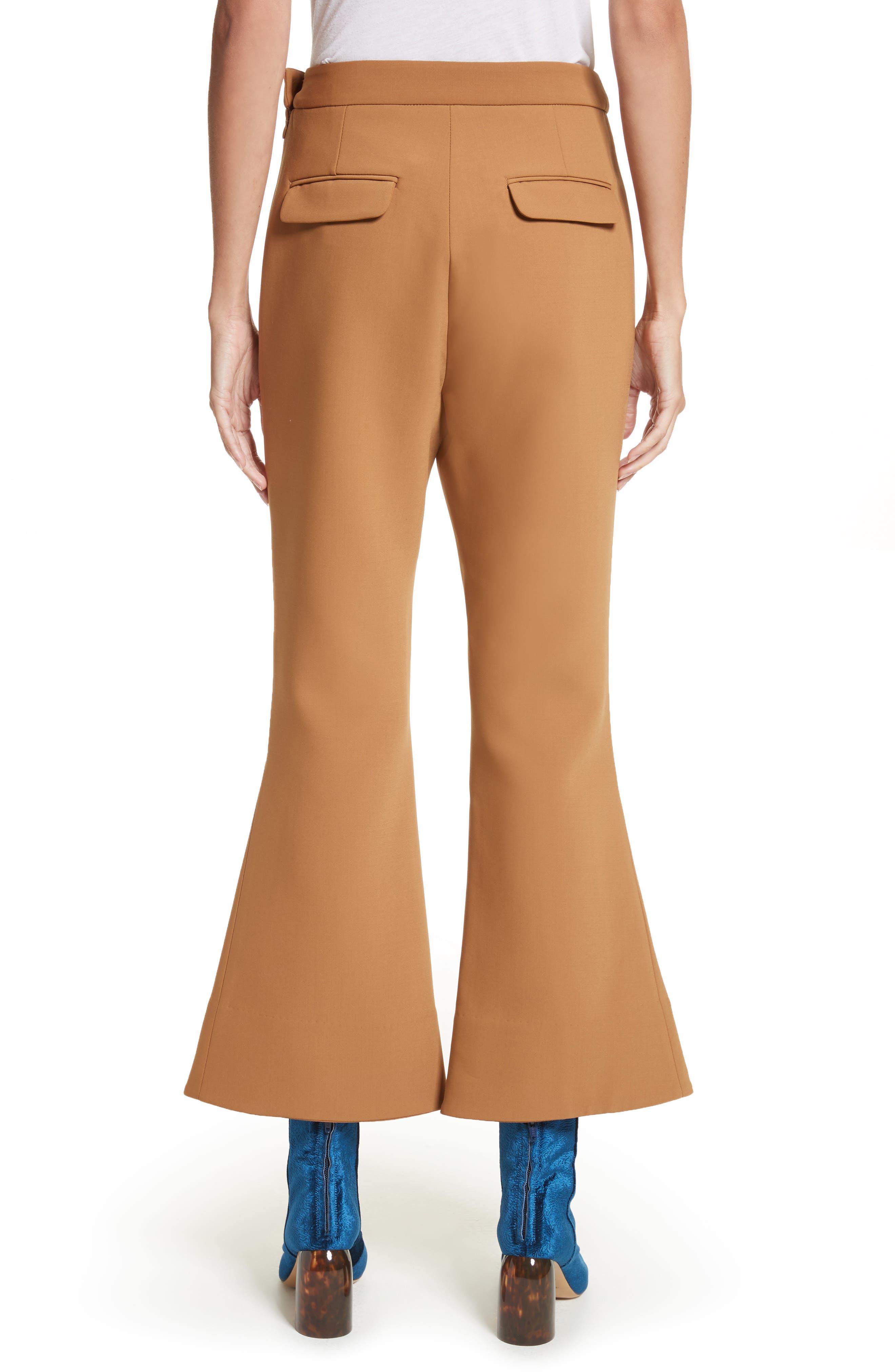 Fourth Element Crop Flare Pants,                             Alternate thumbnail 2, color,                             Camel