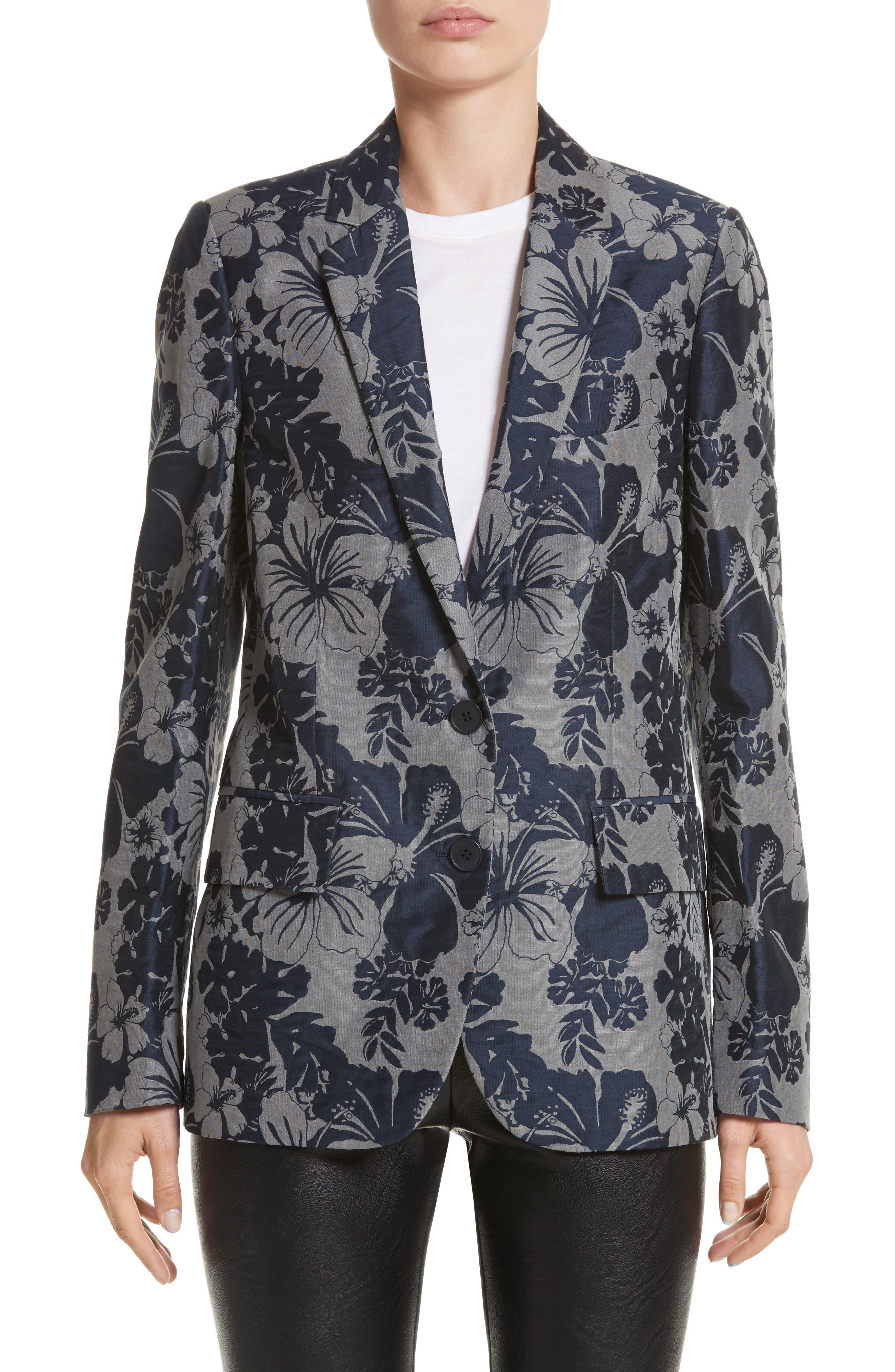 Alternate Image 1 Selected - Stella McCartney Floral Jacquard Blazer