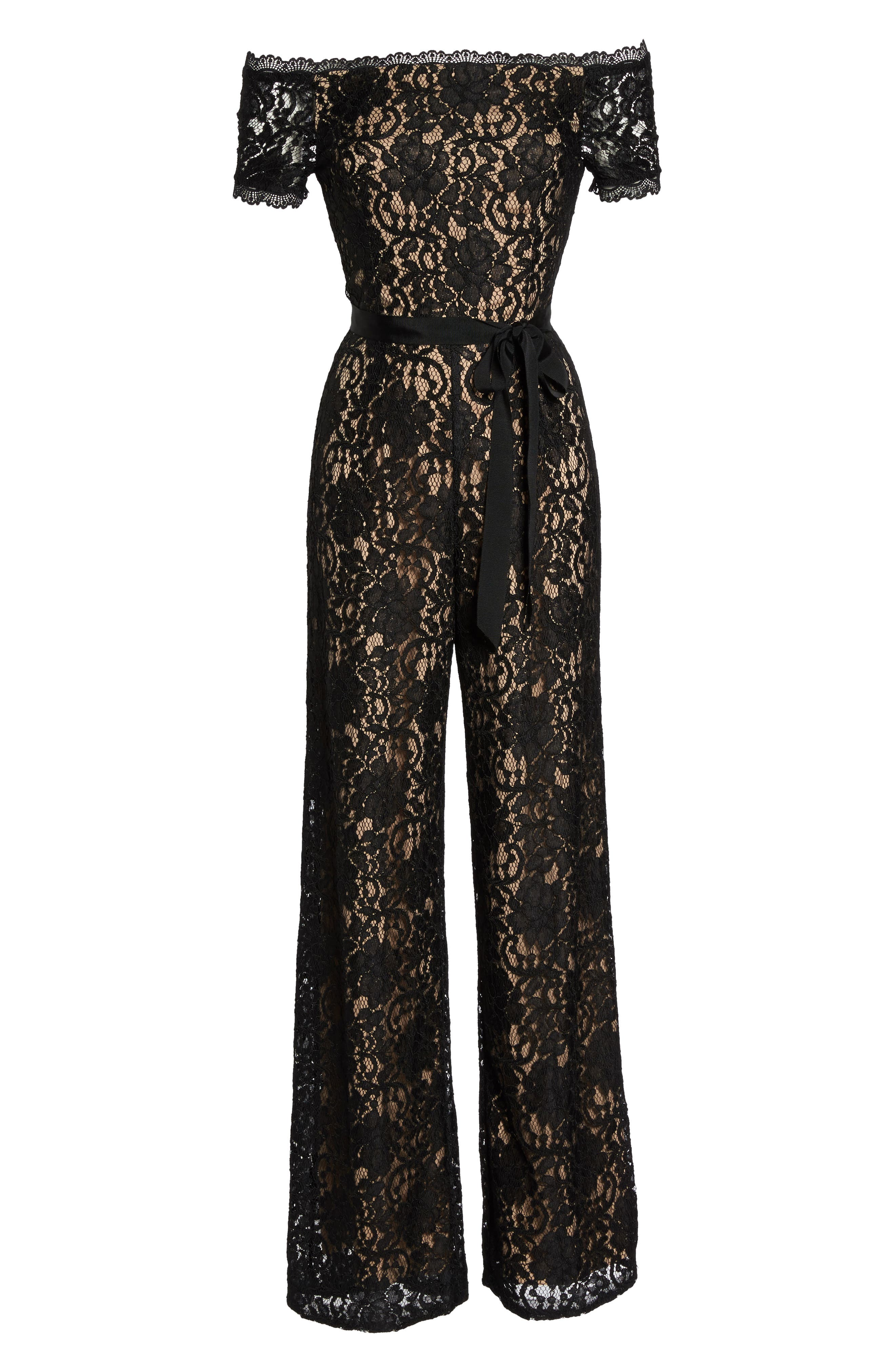 Alternate Image 6  - Adrianna Papell Lace Jumpsuit