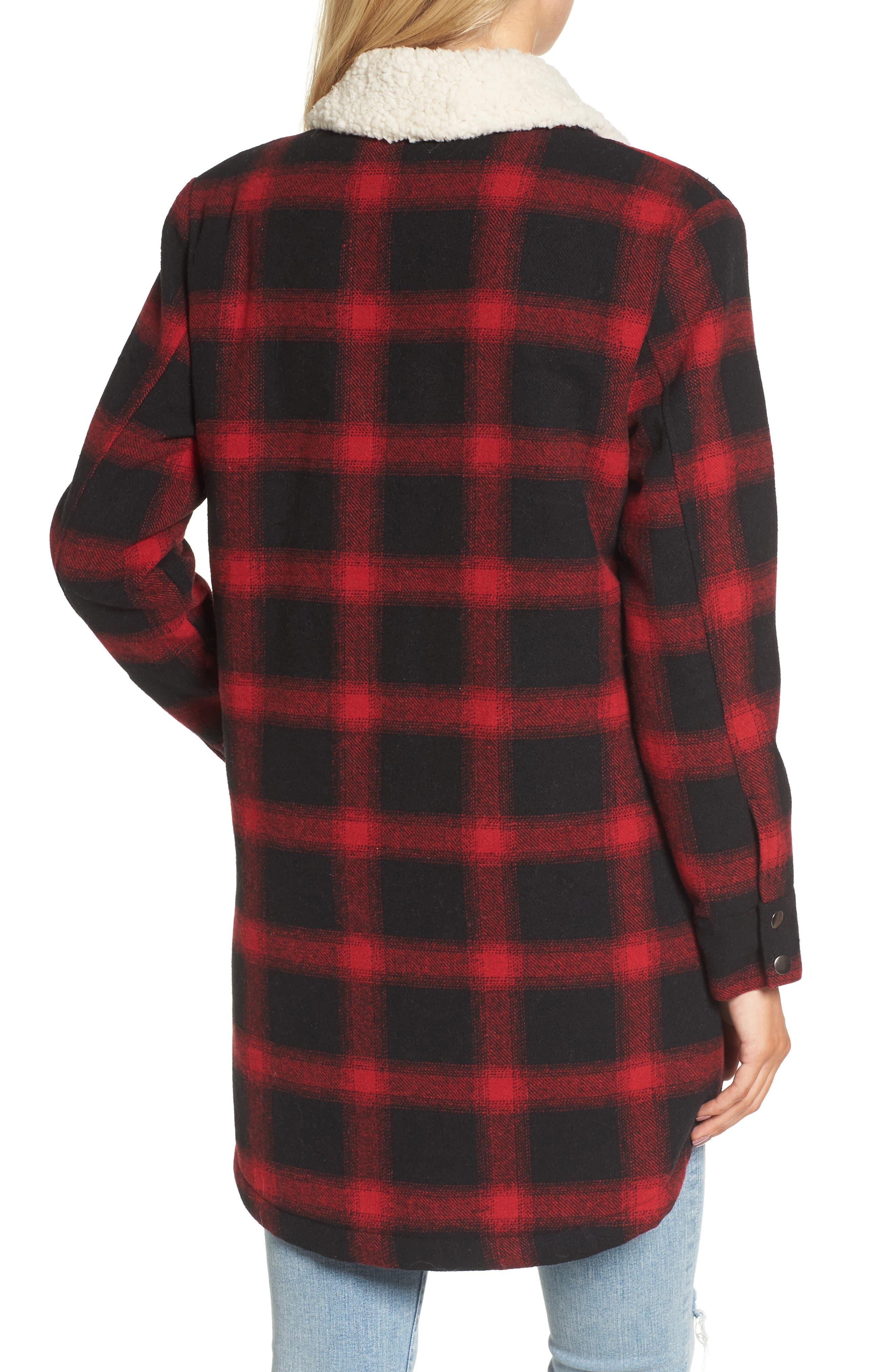 Alternate Image 2  - BB Dakota Bradley Fleece Lined Plaid Coat