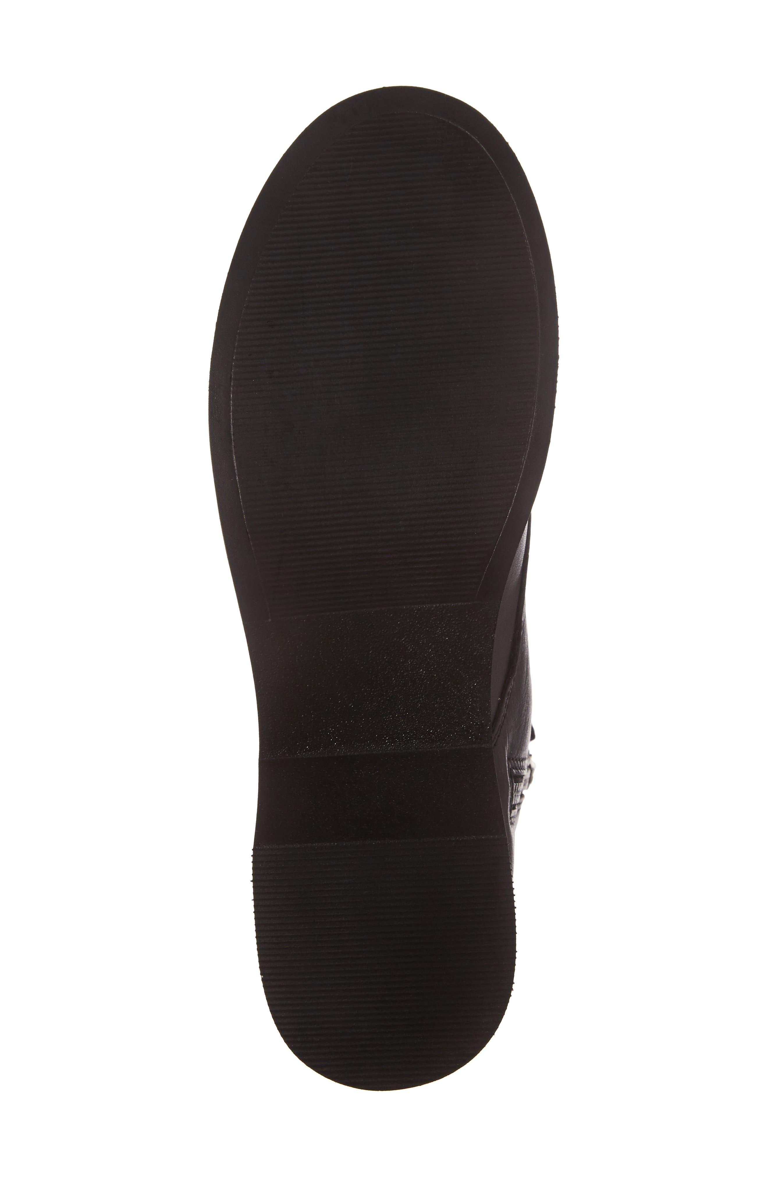 Rocco Combat Boot,                             Alternate thumbnail 6, color,                             Black Leather