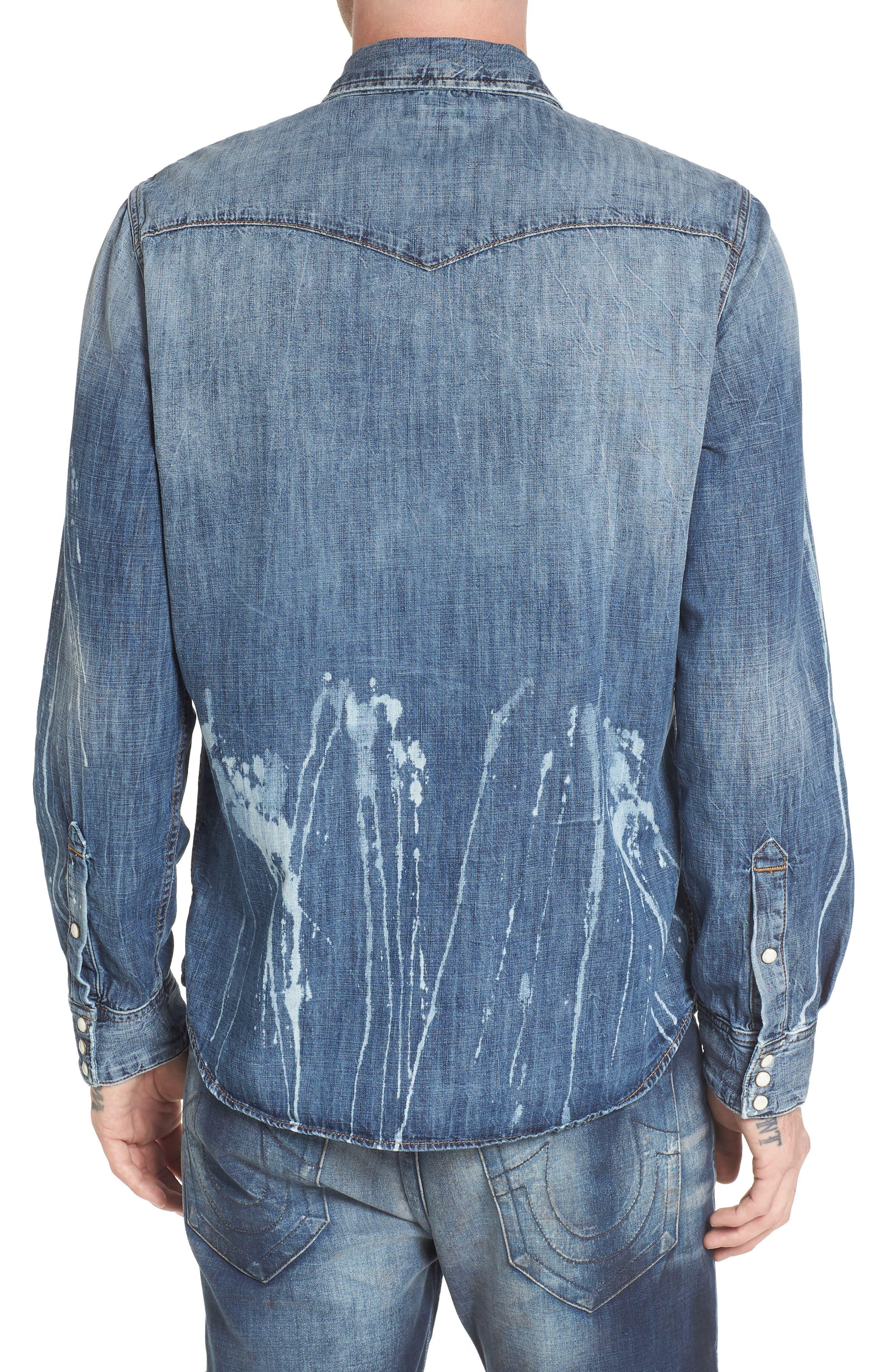 Alternate Image 2  - True Religion Brand Jeans Ryan Runyon Rebel Long Sleeve Western Shirt