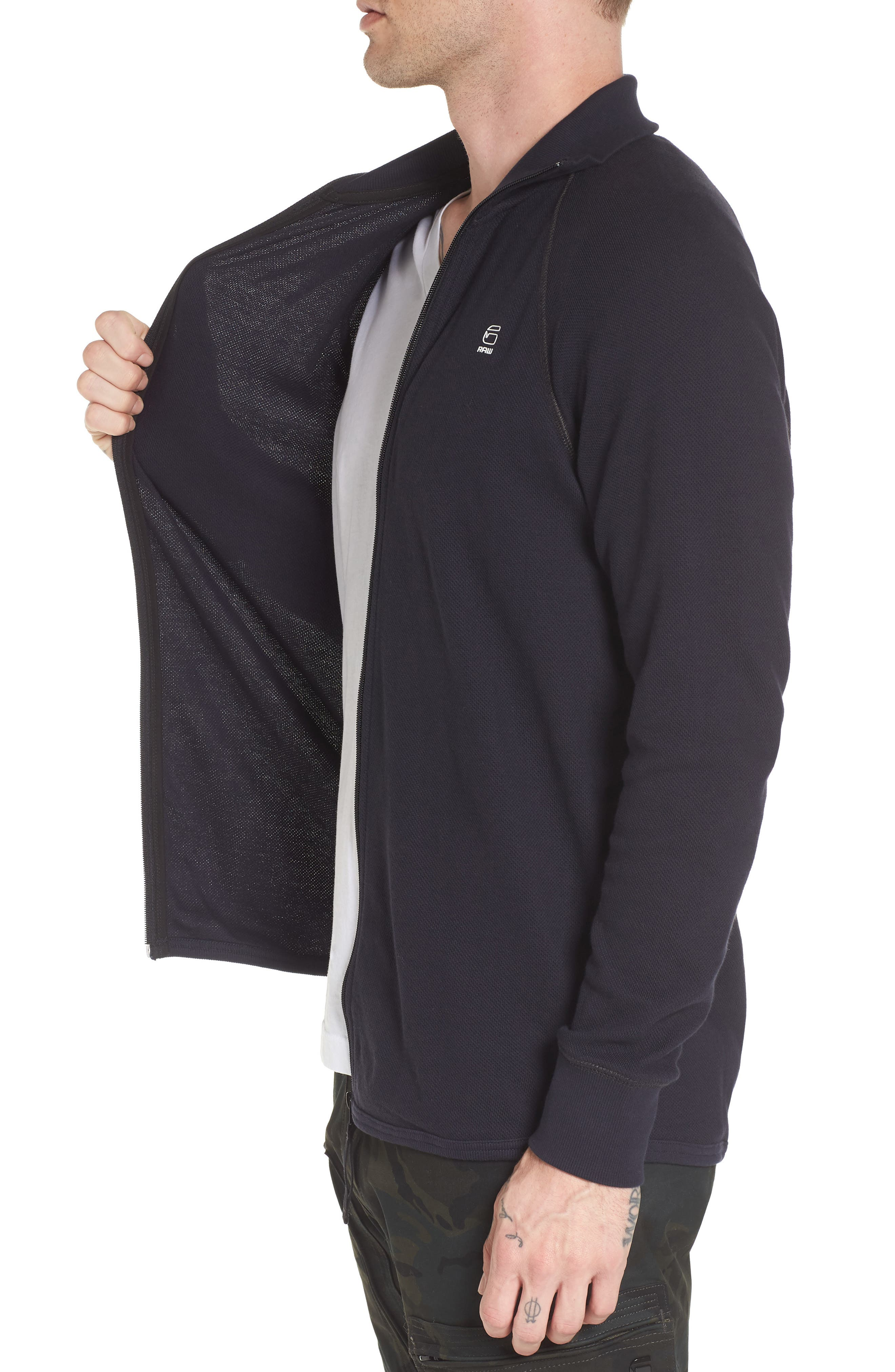 Jirgi Front Zip Sweater,                             Alternate thumbnail 3, color,                             Dark Naval Blue