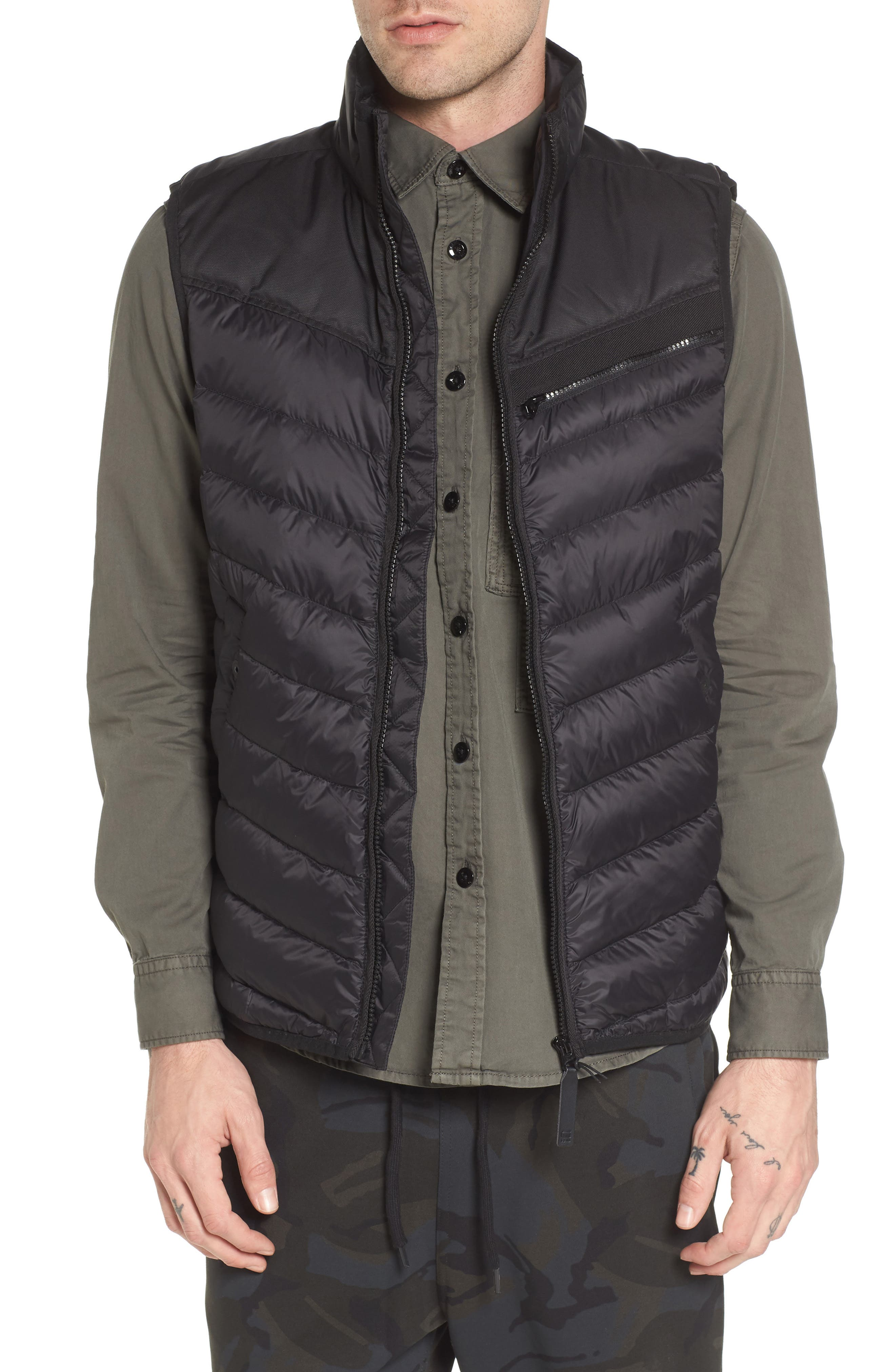 Attacc Down Vest,                         Main,                         color, Black
