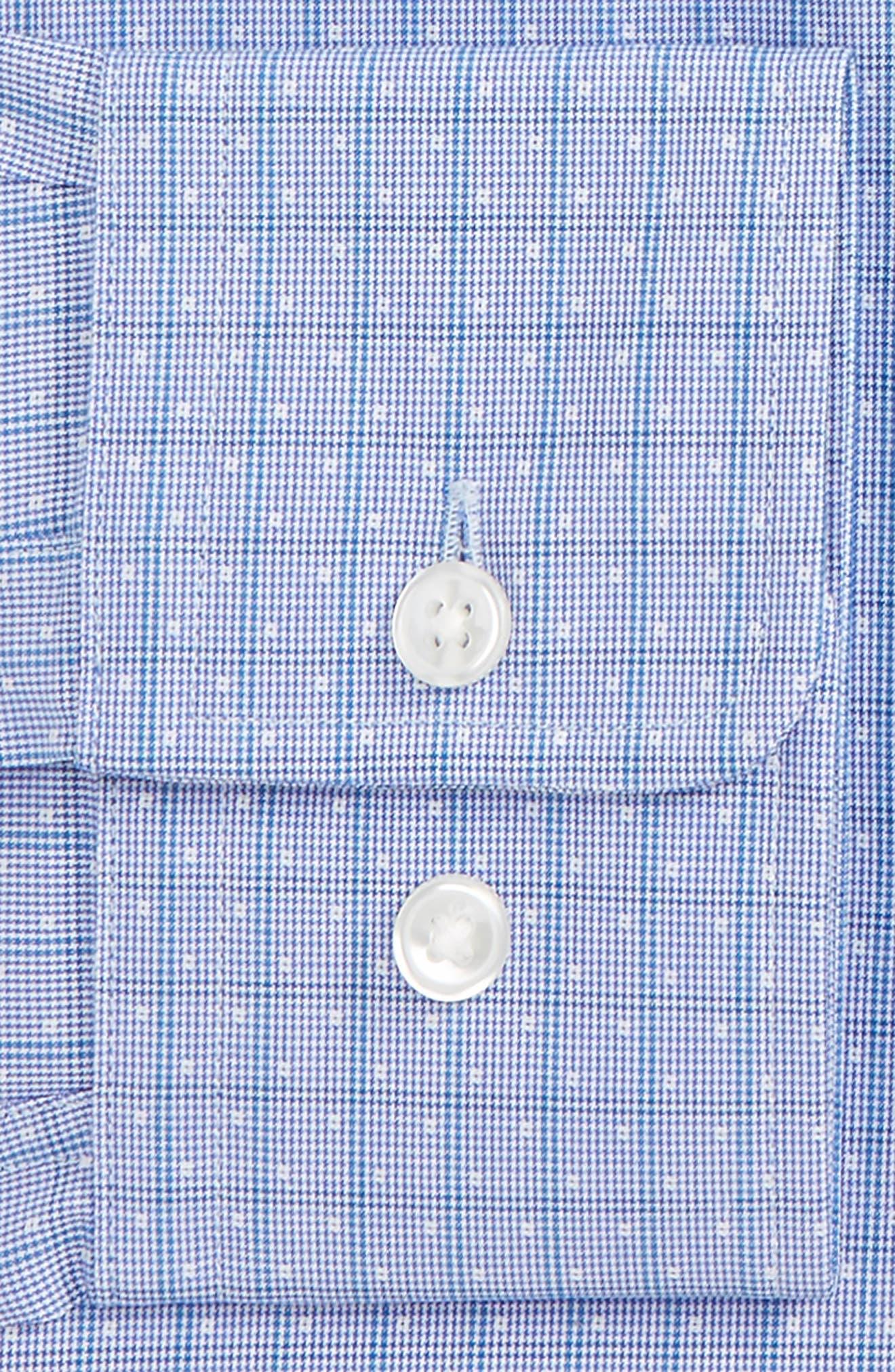 Marley Sharp Fit Check Dress Shirt,                             Alternate thumbnail 2, color,                             Blue