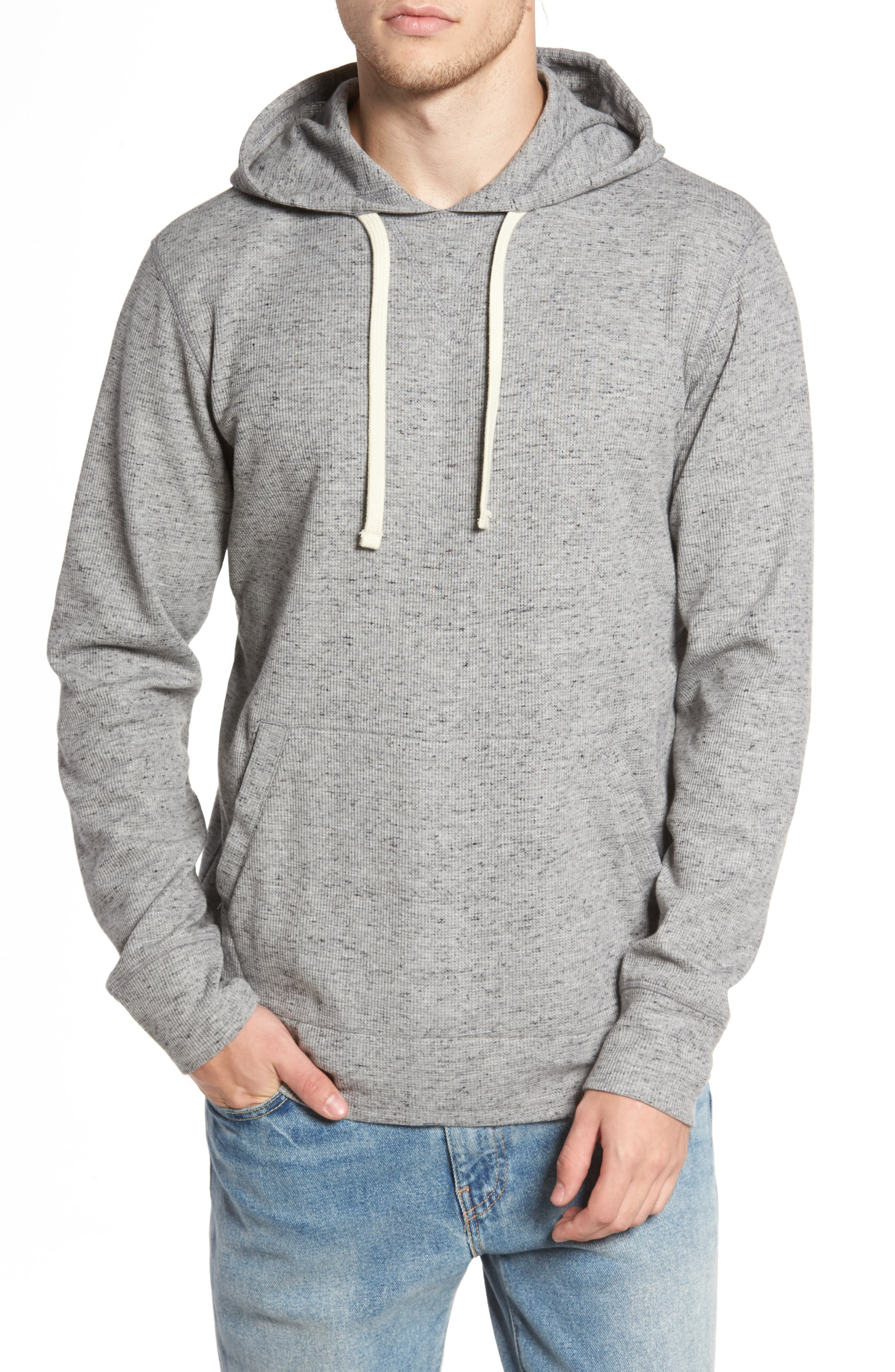 Boldin Thermal Pullover Hoodie,                             Main thumbnail 1, color,                             Light Grey