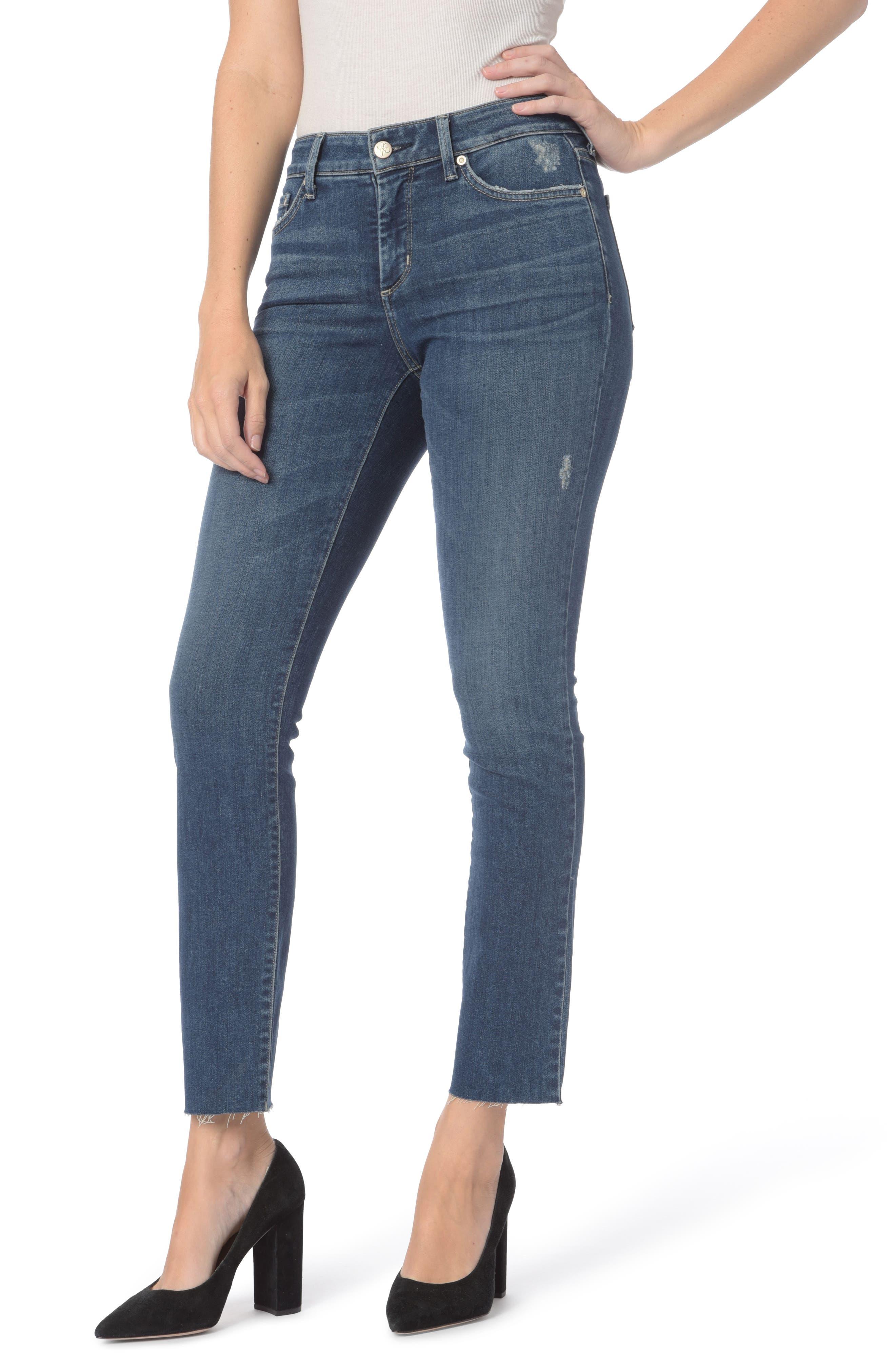 Main Image - NYDJ Sheri Raw Hem Stretch Slim Ankle Jeans (Parke)