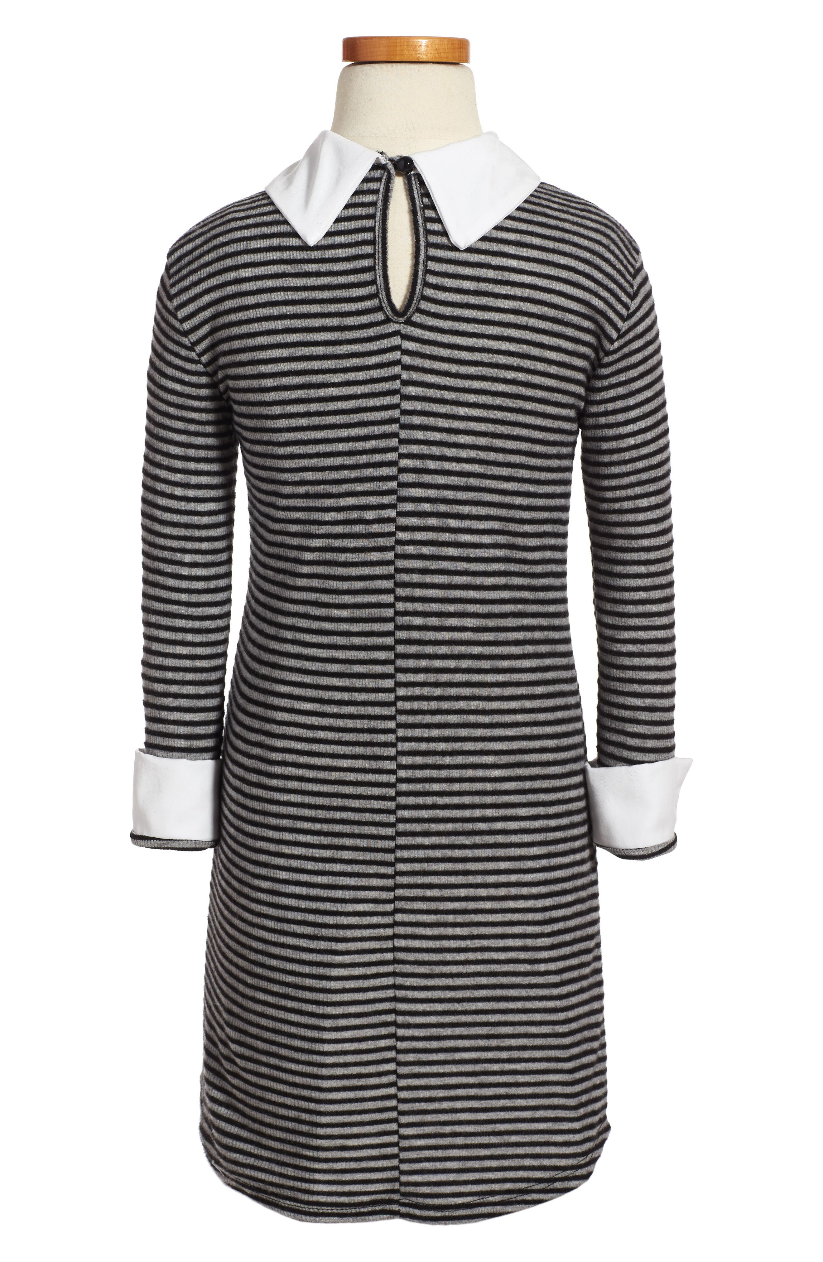 Alternate Image 2  - Kiddo Mixed Media Stripe Dress (Big Girls)