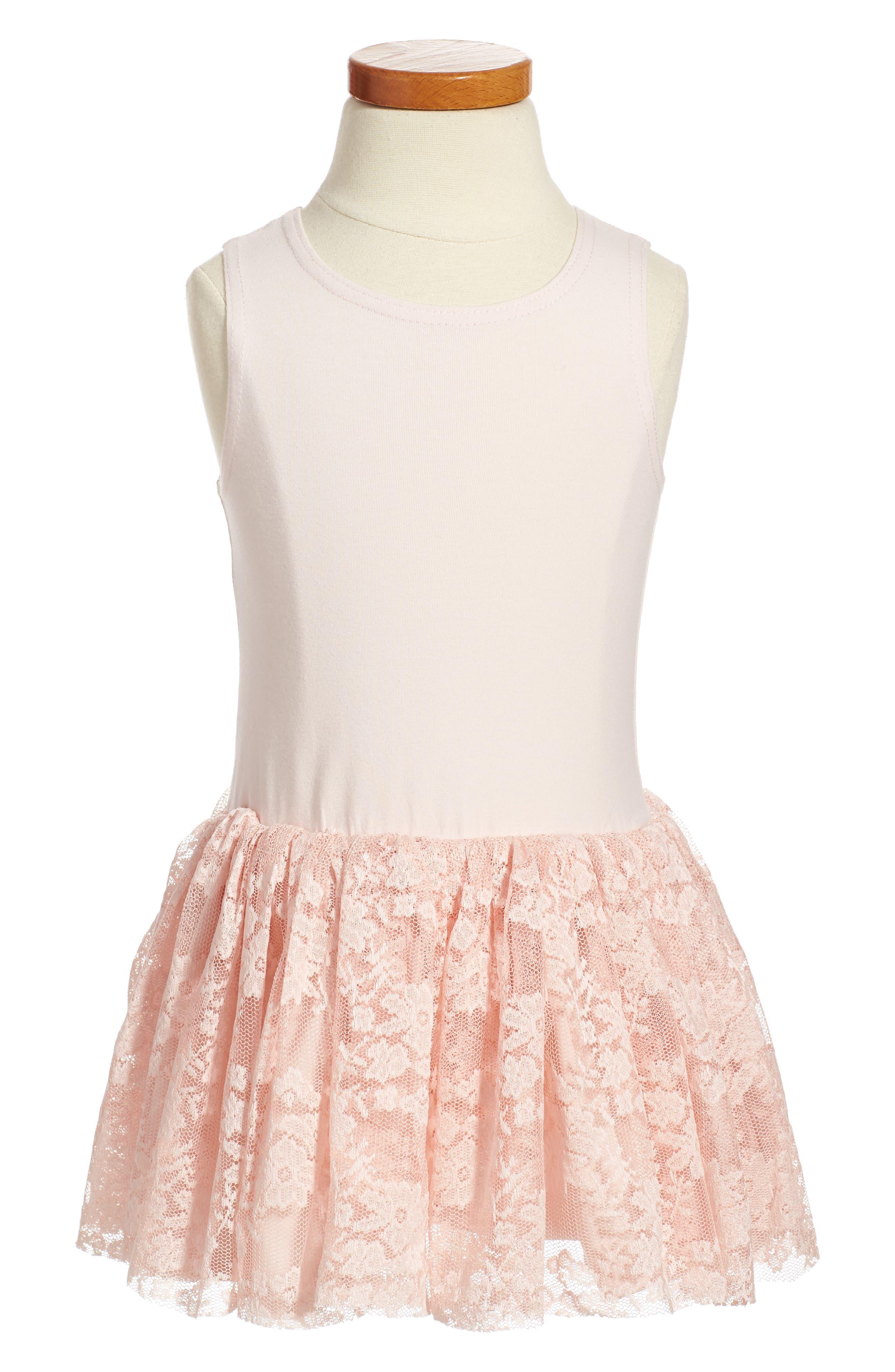 Alternate Image 3  - Pippa & Julie Sweater & Lace Skirt Dress (Toddler Girls, Little Girls & Big Girls)