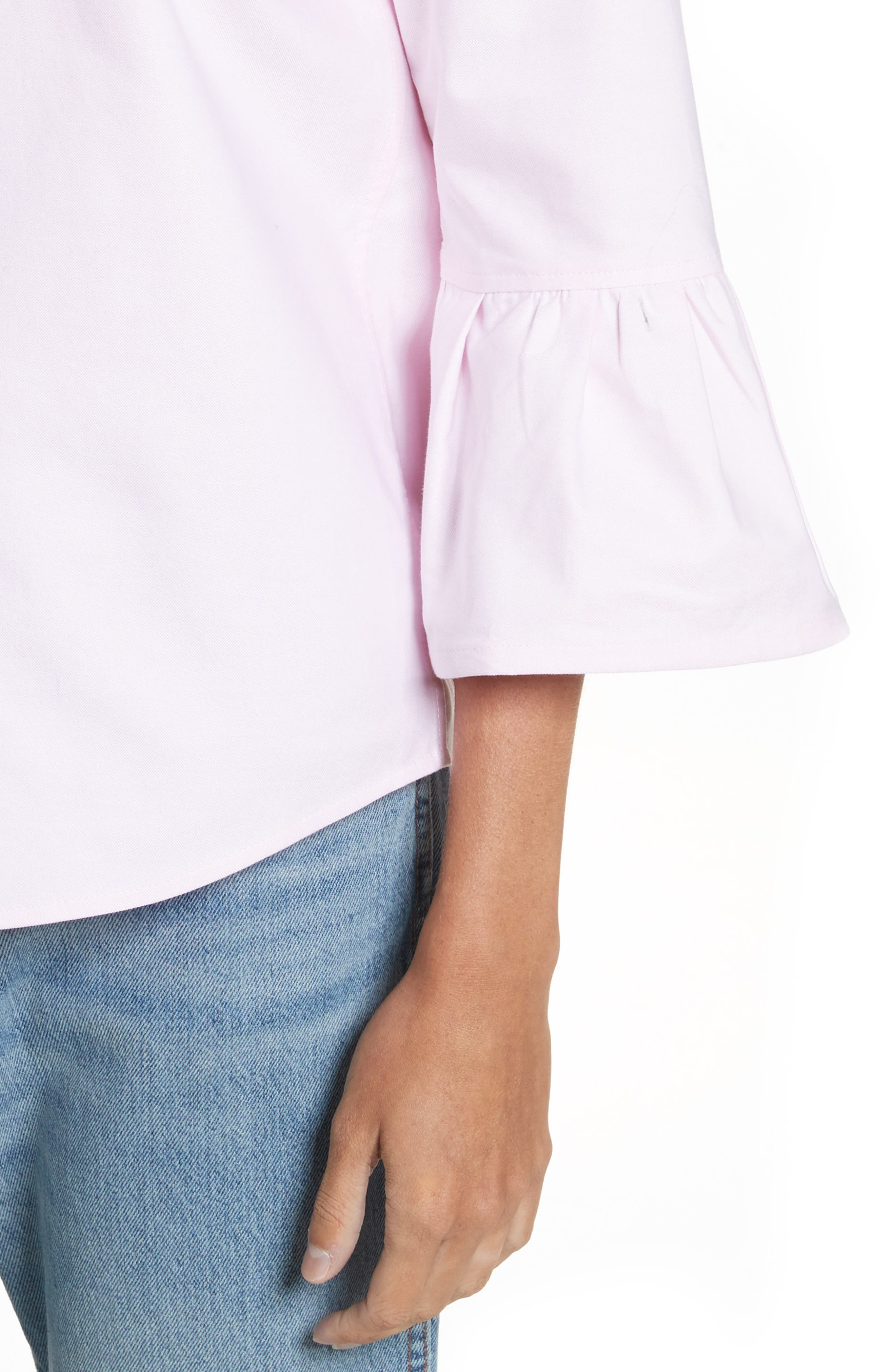 Alternate Image 4  - MARC JACOBS Bell Sleeve Cotton Top