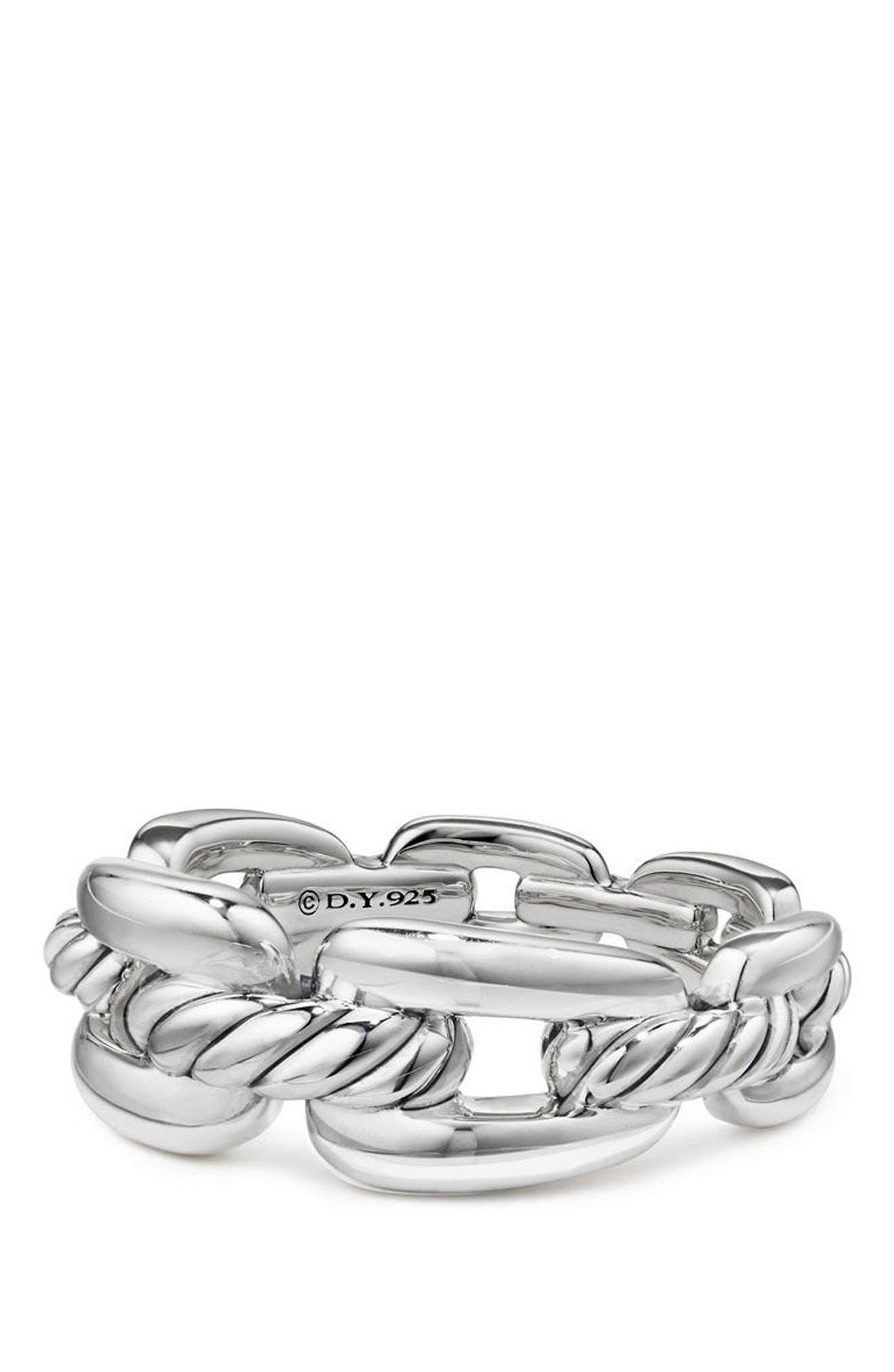David Yurman Stax Chain Link Ring with Diamonds