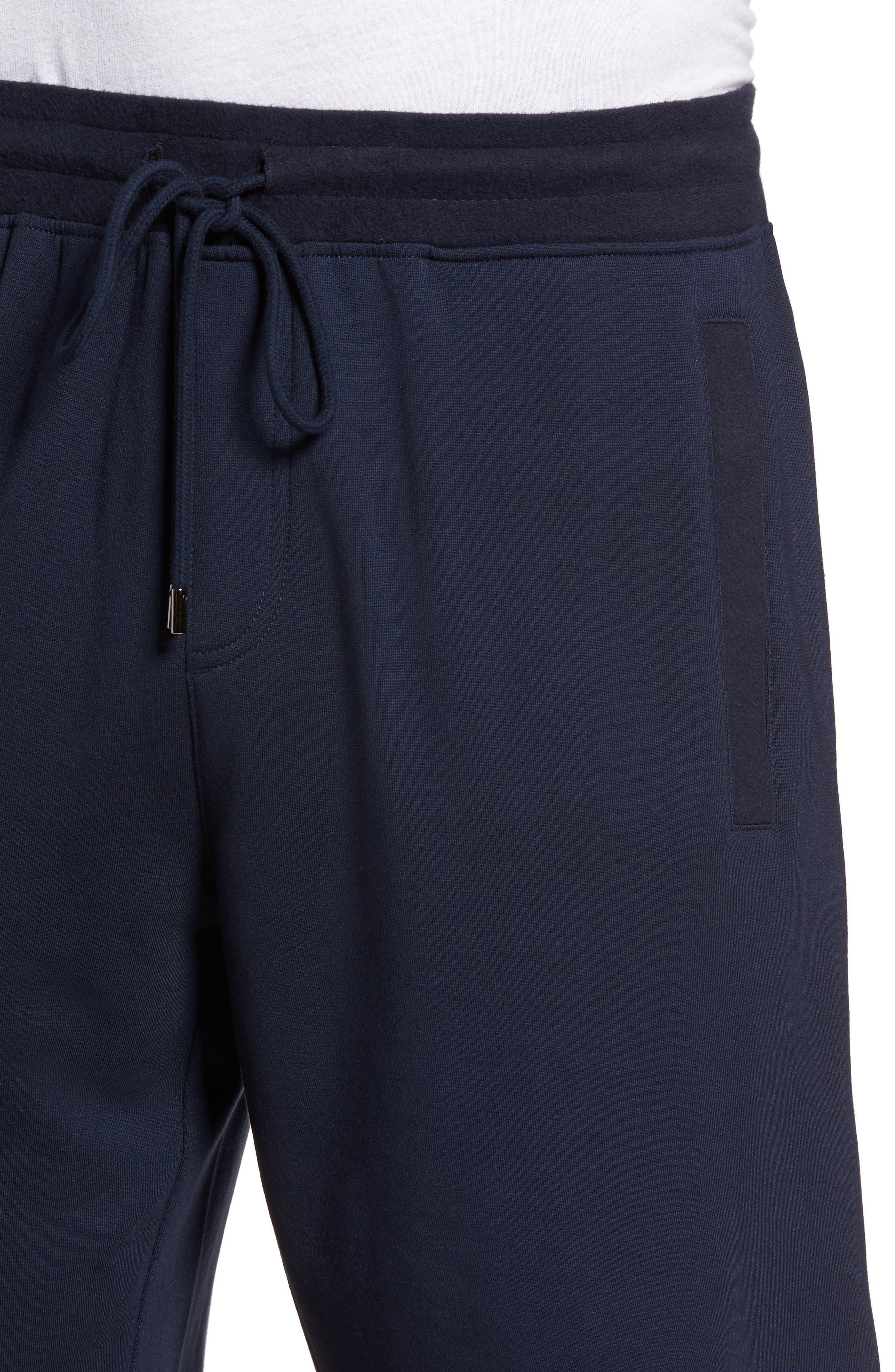 Modal Blend Lounge Shorts,                             Alternate thumbnail 4, color,                             Ink