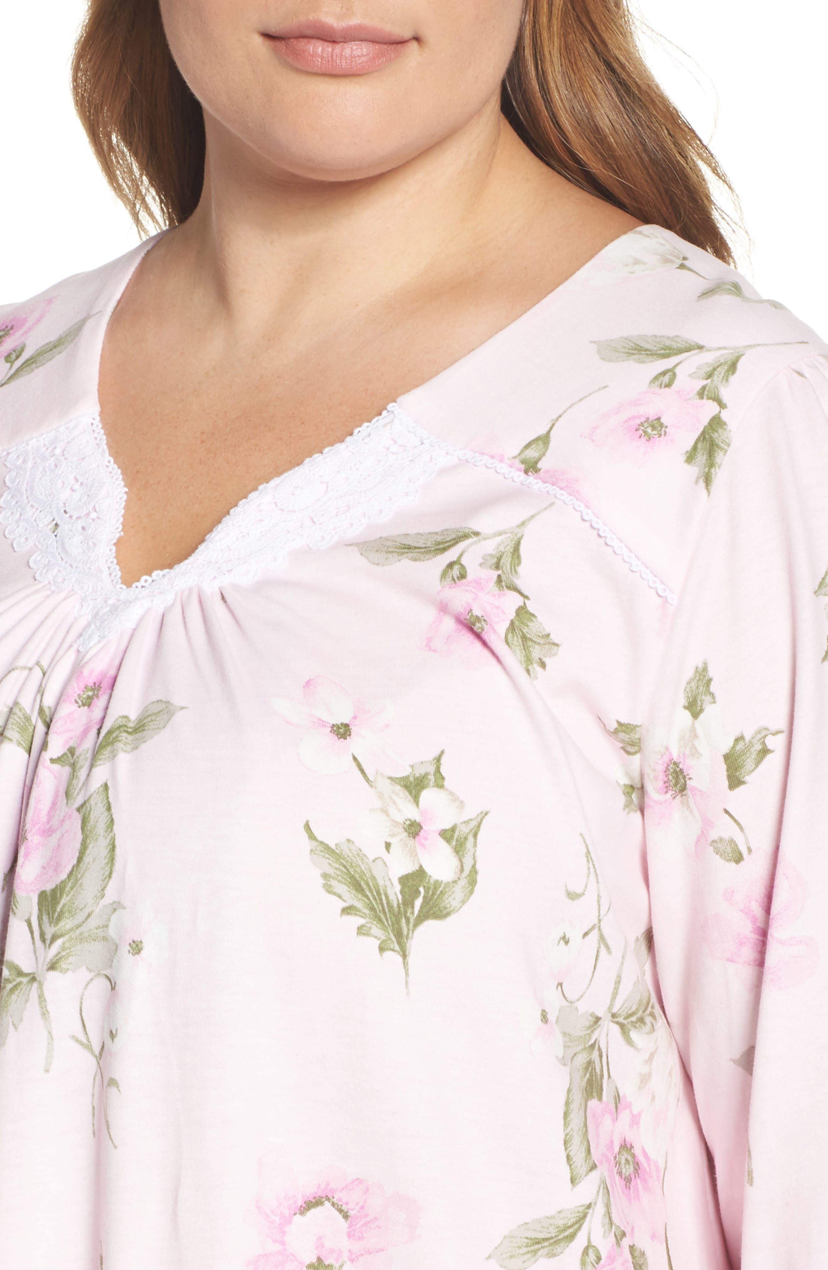 Alternate Image 5  - Carole Hochman Knit Nightgown (Plus Size)