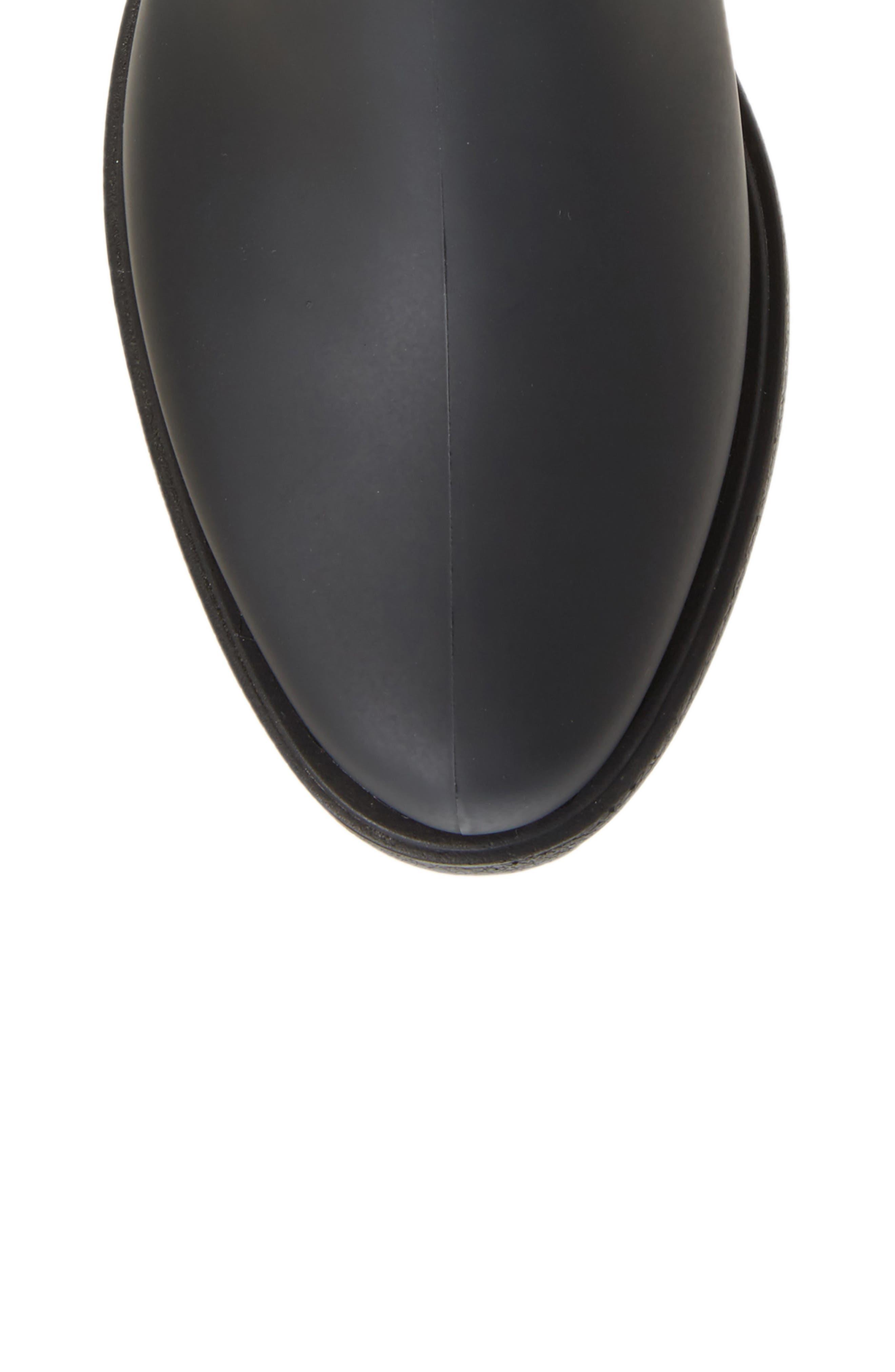 Monsoon Over the Knee Platform Rain Boot,                             Alternate thumbnail 5, color,                             Black Black Neoprene
