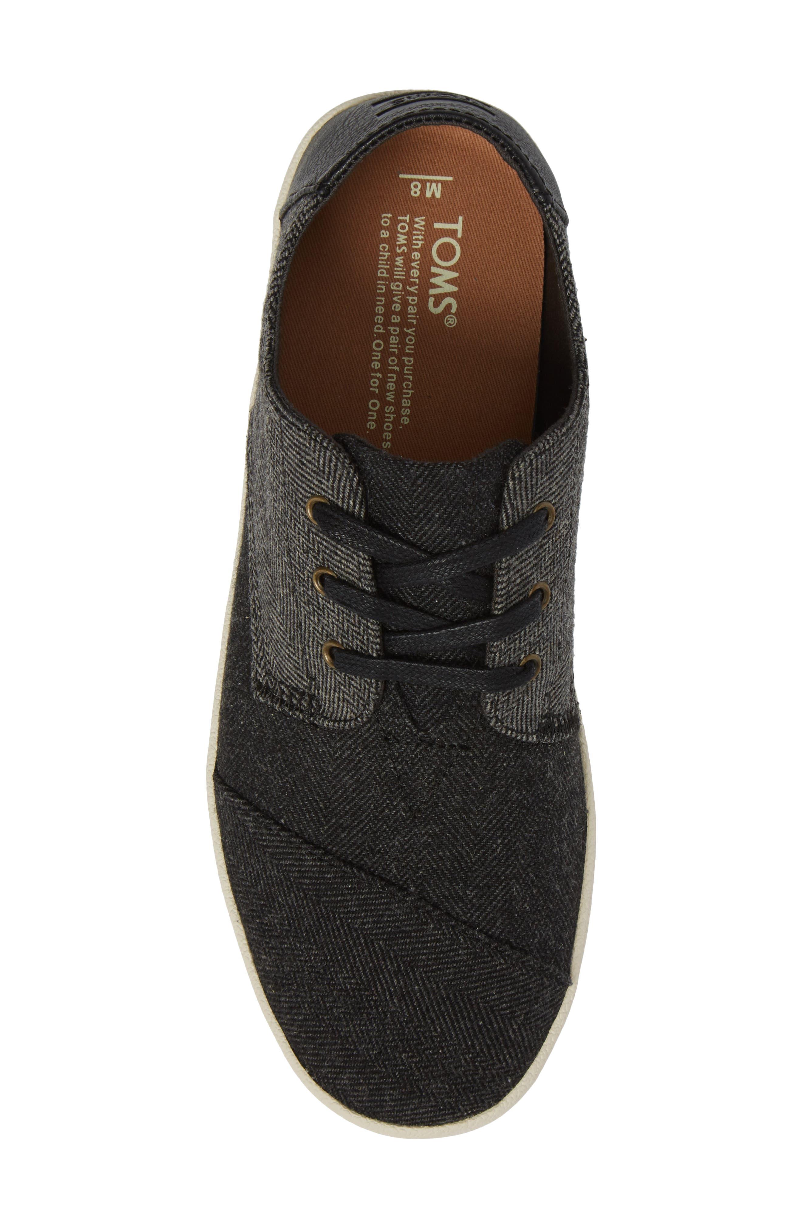 'Paseo' Sneaker,                             Alternate thumbnail 5, color,                             Black/ Grey