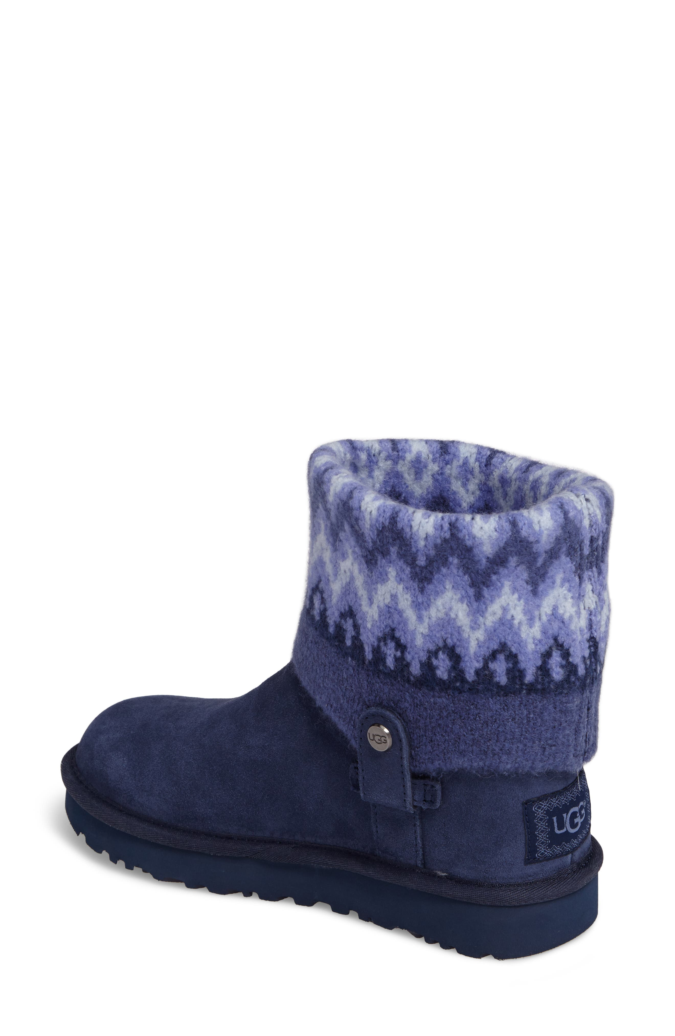 Saela Icelandic Boot,                             Alternate thumbnail 2, color,                             Navy Suede