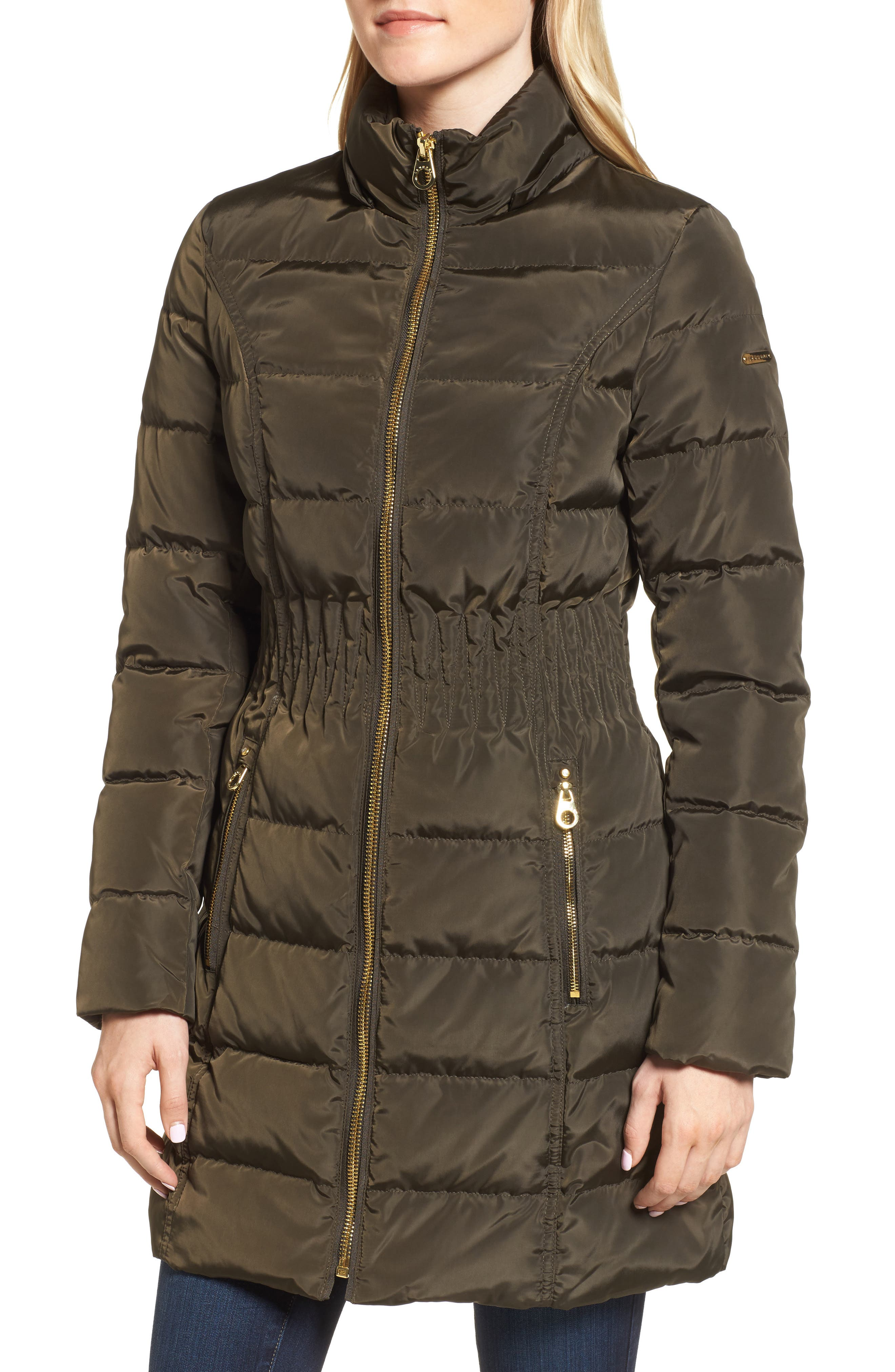 Alternate Image 4  - Laundry by Shelli Segal Hooded Quilted Jacket with Faux Fur Trim