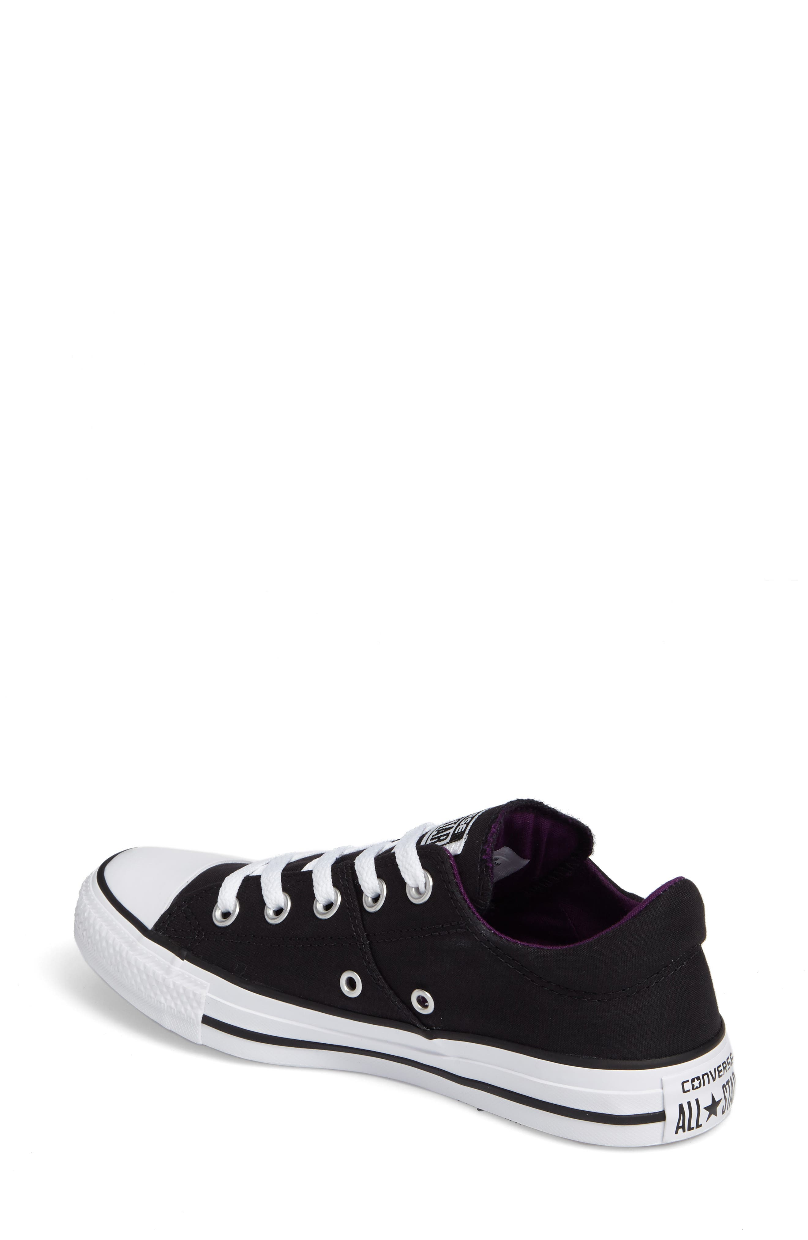 Chuck Taylor<sup>®</sup> All Star<sup>®</sup> Madison Low Top Sneaker,                             Alternate thumbnail 2, color,                             Black Canvas