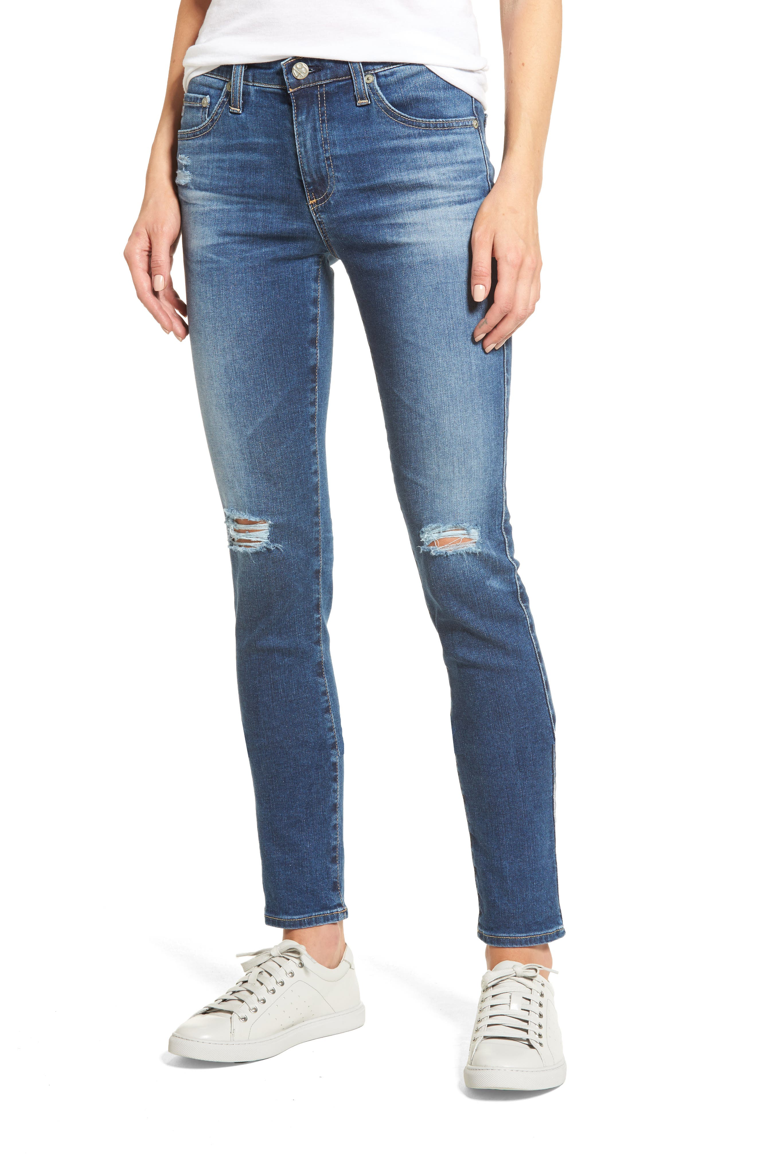 'Prima' Skinny Jeans,                         Main,                         color, 13 Years Daybreak Destroyed