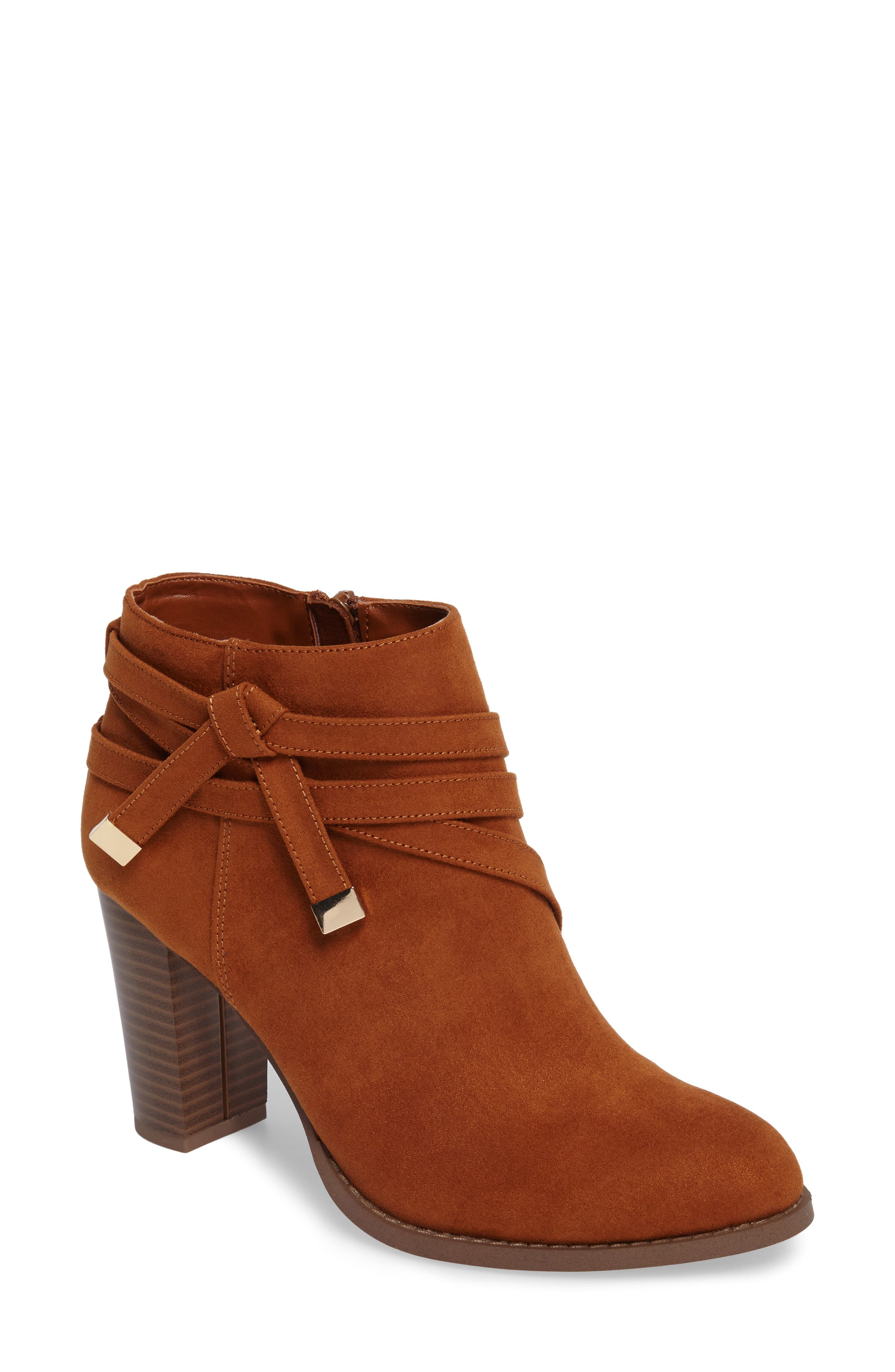 Renly Bootie,                             Main thumbnail 1, color,                             Tan Suede