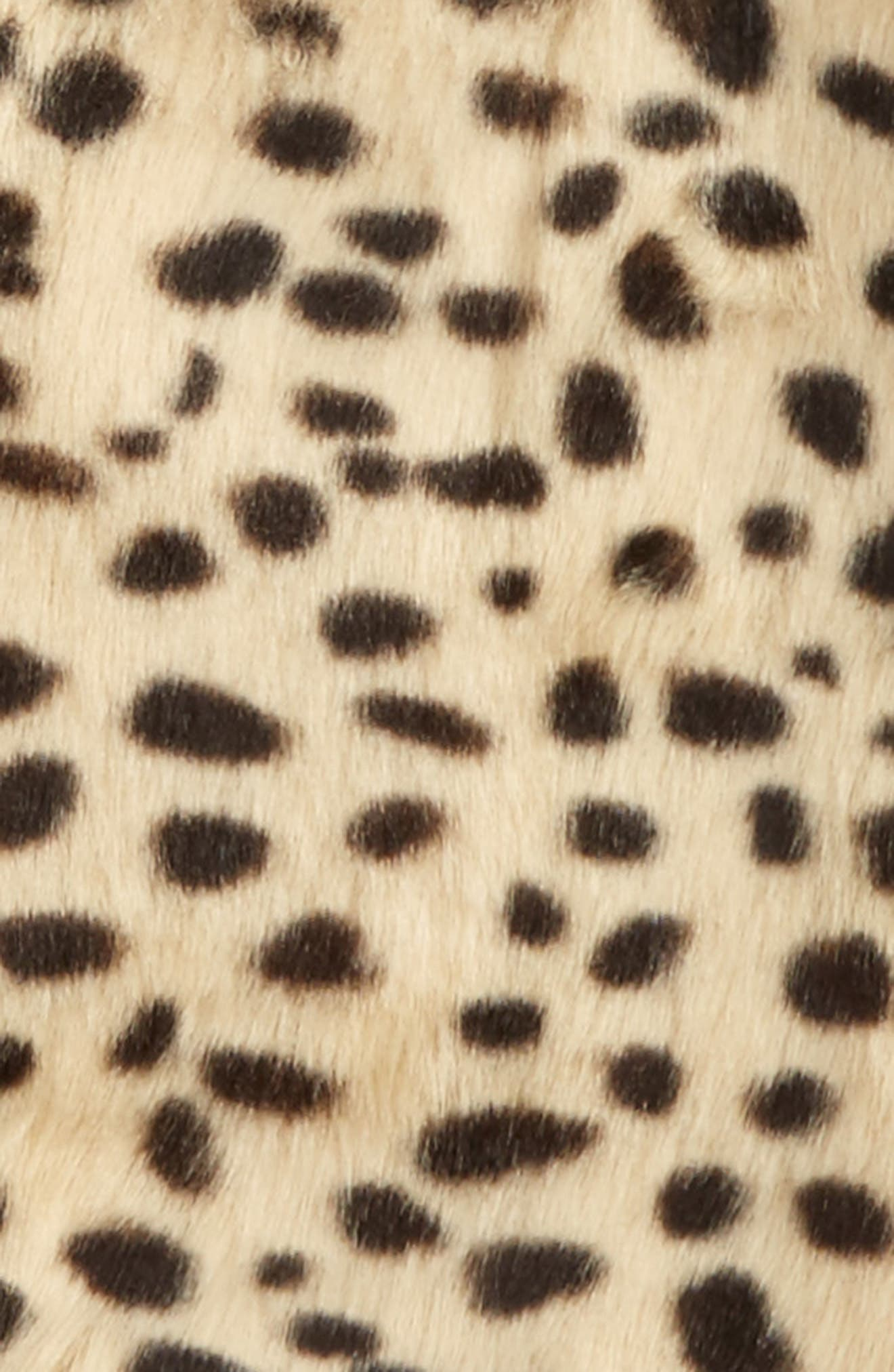 Alternate Image 2  - Bardot Junior Leopard Print Faux Fur Vest (Little Girls)