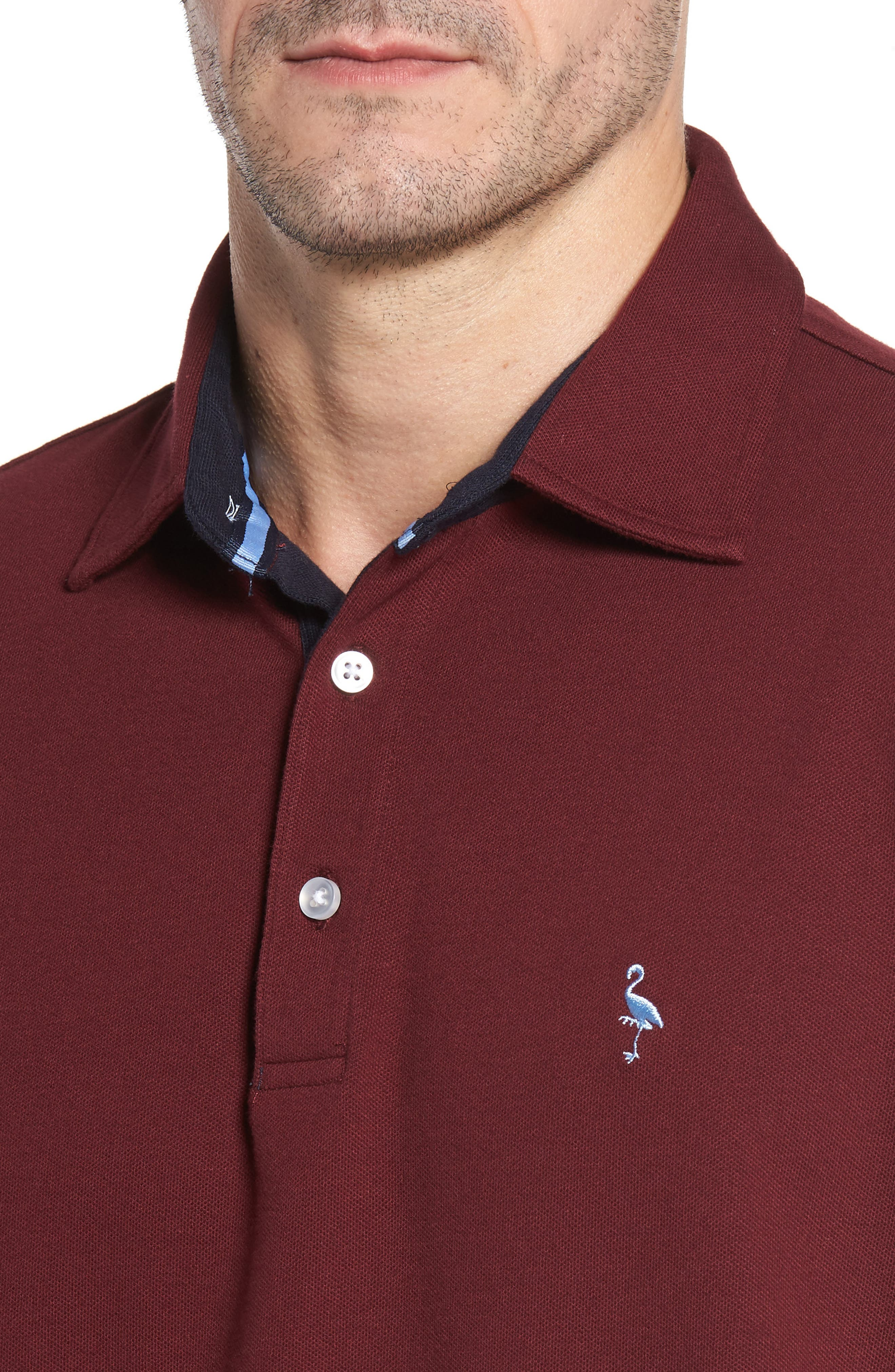 Alternate Image 4  - TailorByrd Two-Tone Piqué Knit Polo