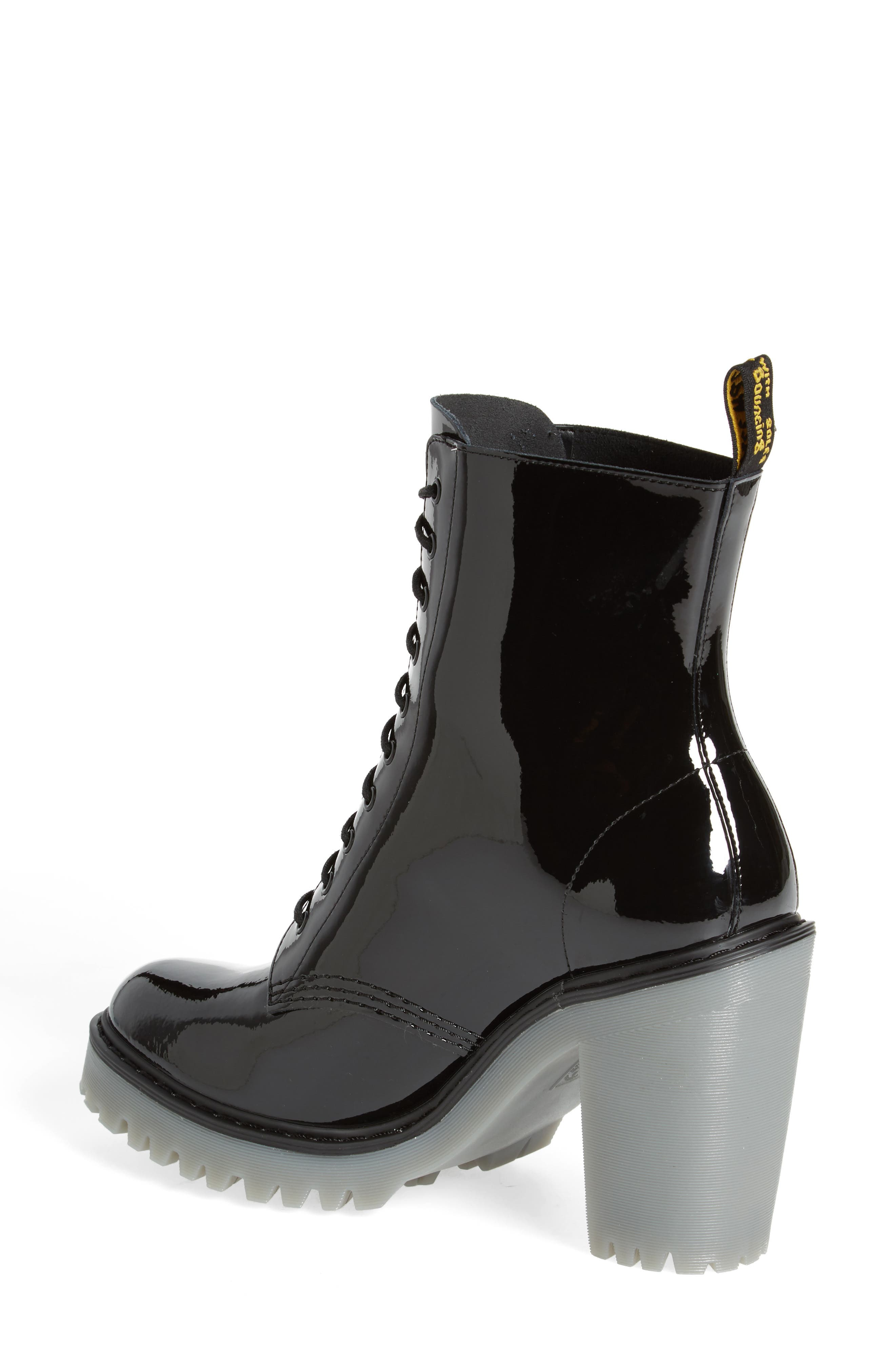 Kendra Heeled Bootie,                             Alternate thumbnail 2, color,                             Black Patent Leather