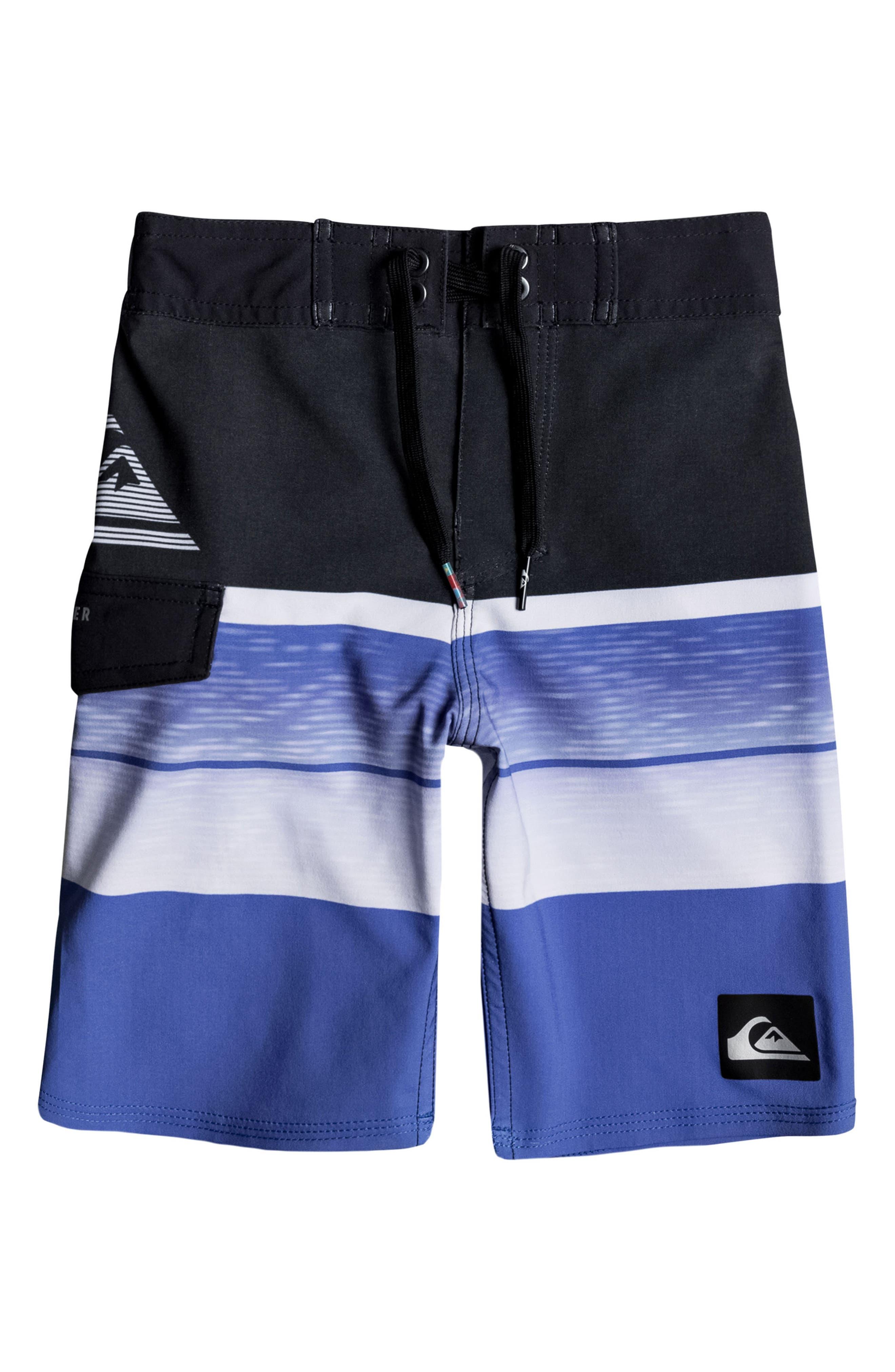 Slab Logo Board Shorts,                             Main thumbnail 1, color,                             Electric Blue