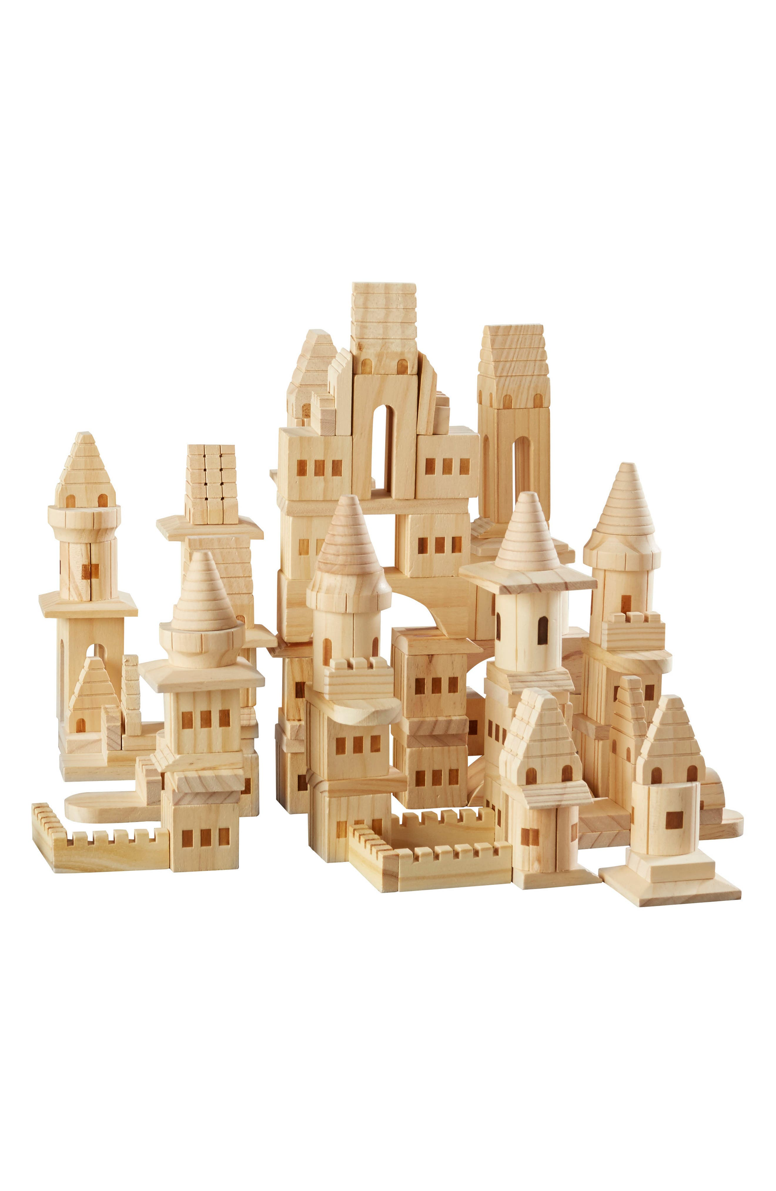 FAO Schwarz 150-Piece Wood Castle Building Block Set