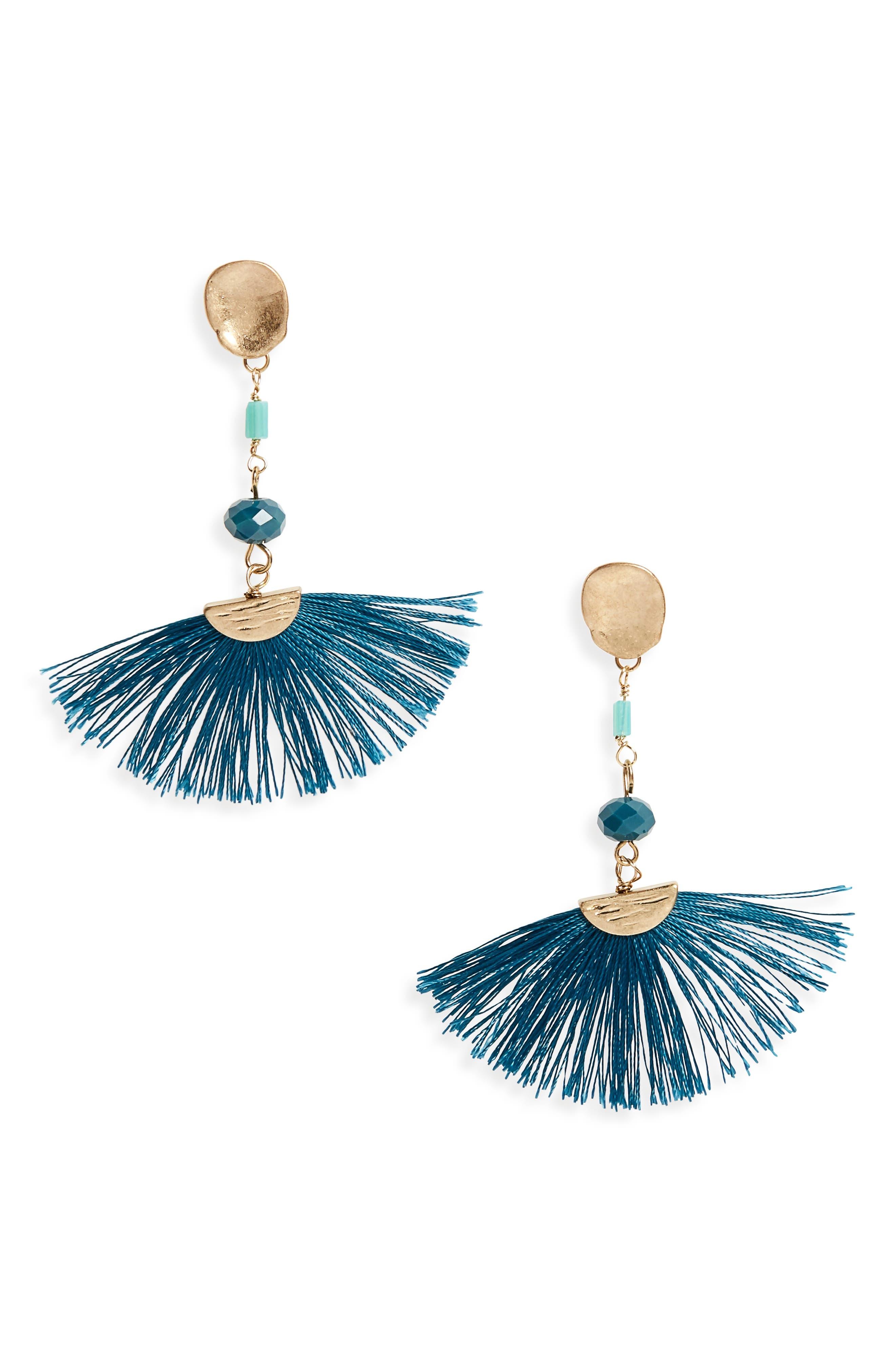 Canvas Jewelry Fan Drop Post Earrings