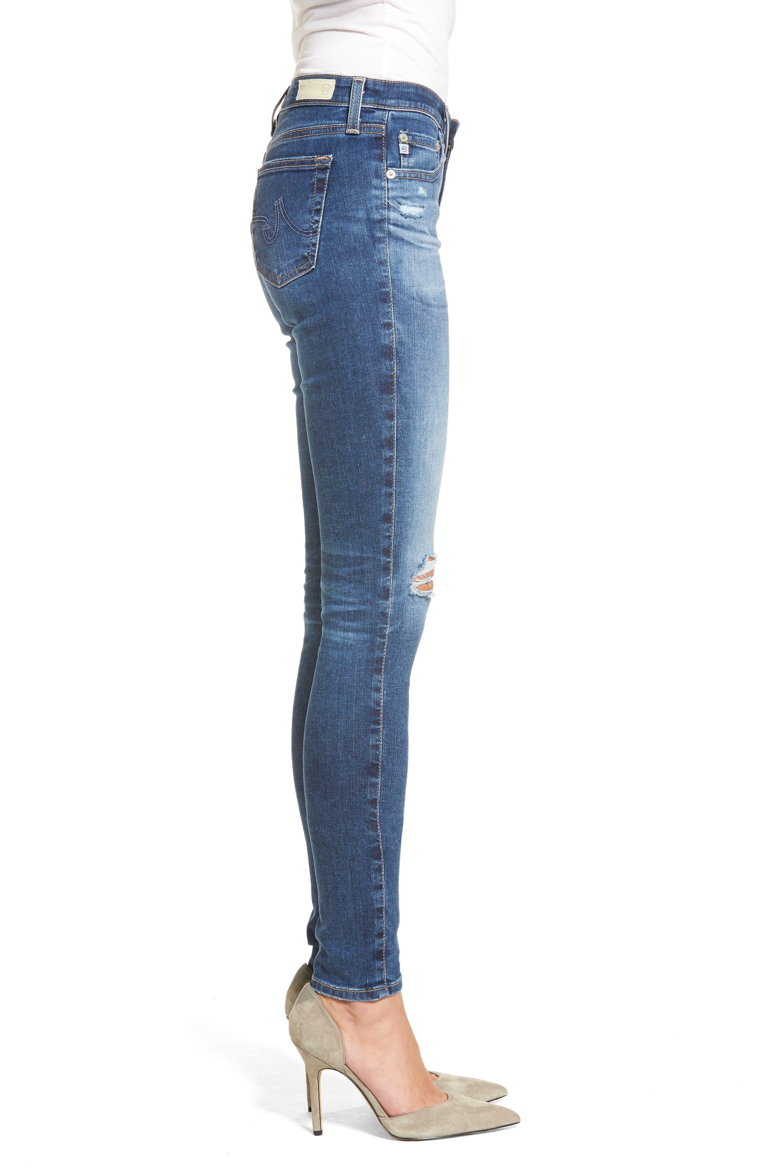 Alternate Image 3  - AG The Legging Super Skinny Jeans (13 Years Daybreak Destroyed)