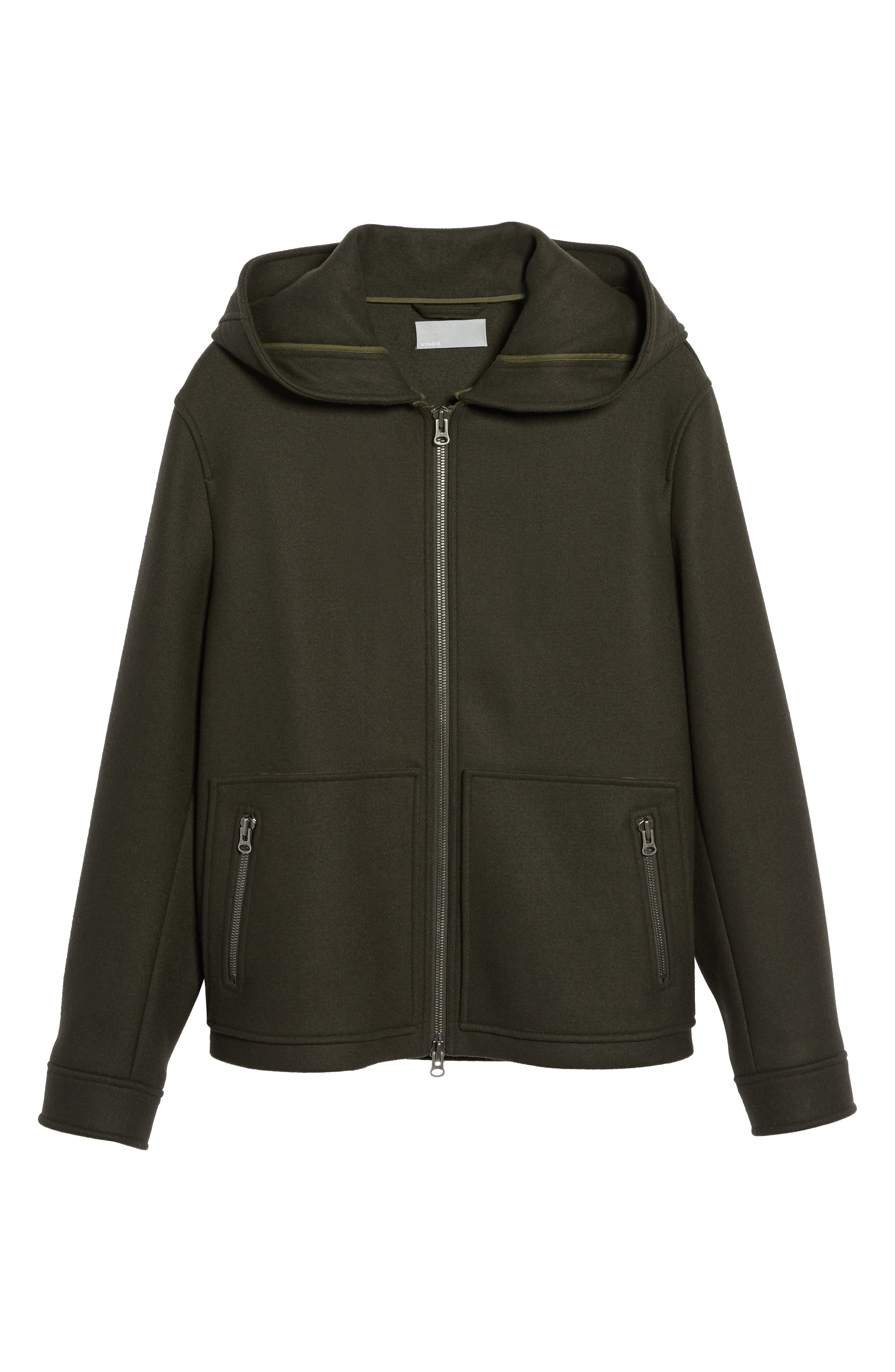 Fleece Zip Hoodie,                             Alternate thumbnail 6, color,                             Olive