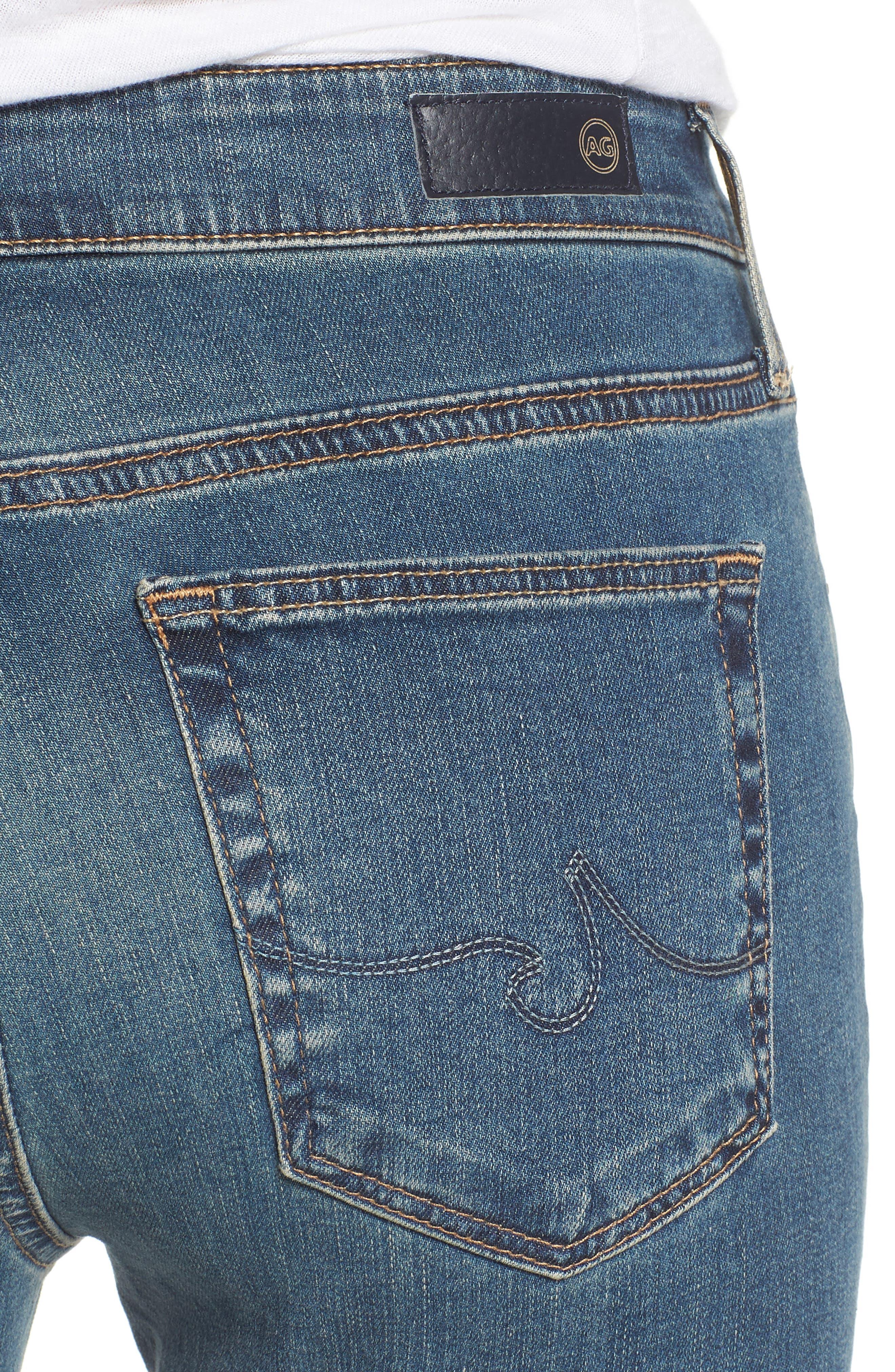 Alternate Image 4  - AG 'The Farrah' High Rise Skinny Jeans