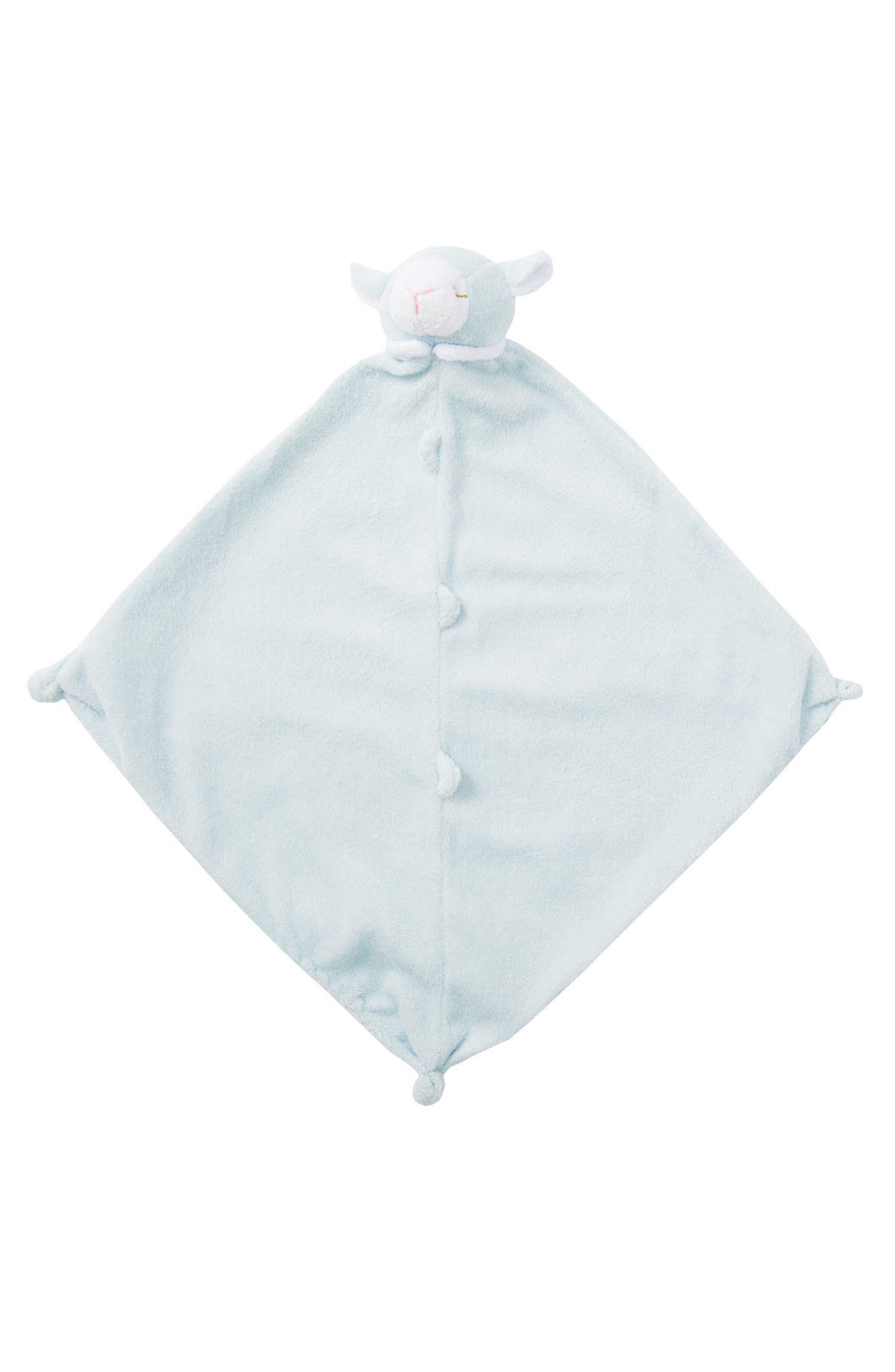 Lamb Jacquard Blanket & Blankie Set,                             Alternate thumbnail 4, color,                             Blue Sheep