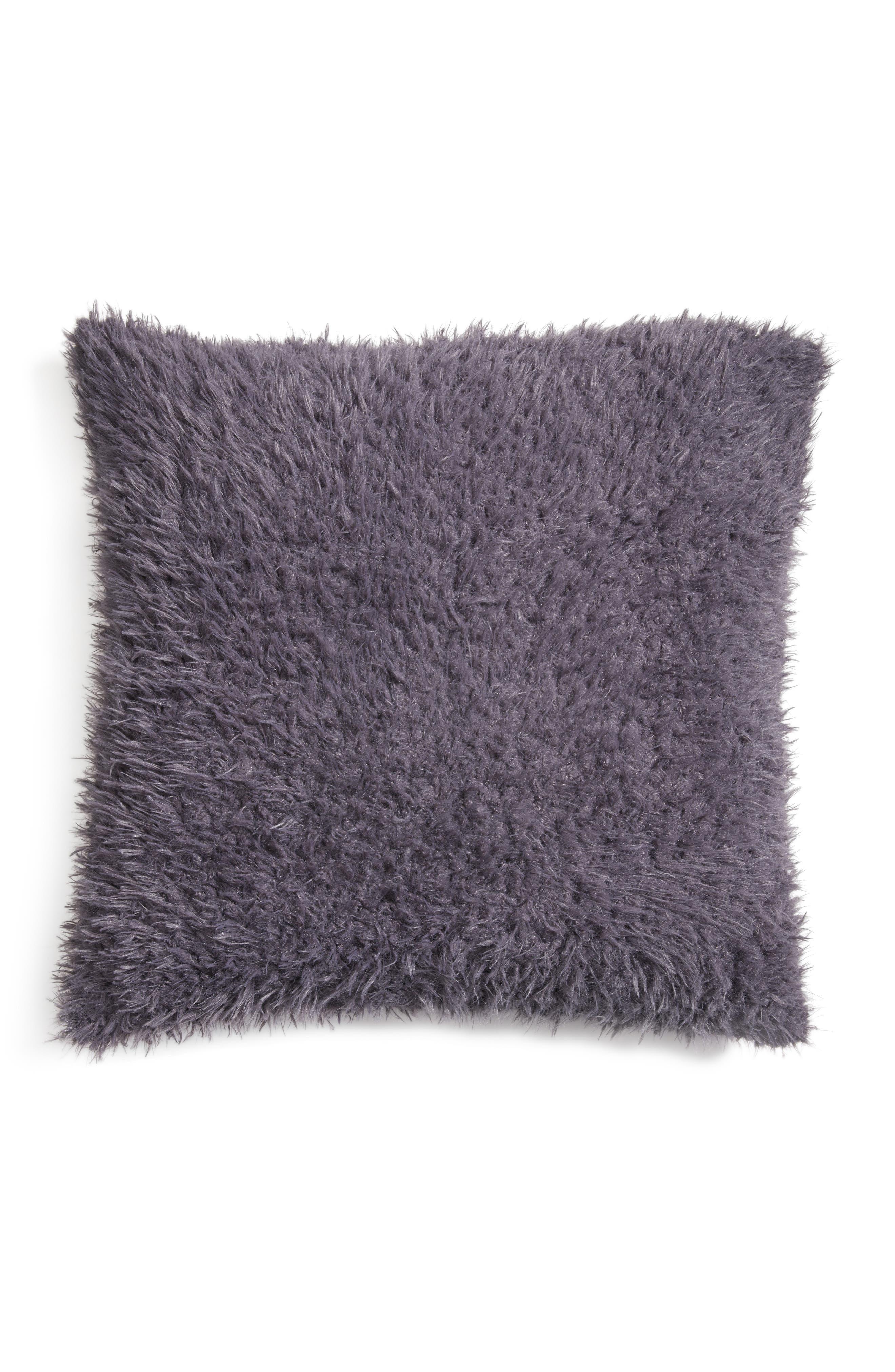 Shaggy Plush Pillow,                         Main,                         color, Grey Excalibur