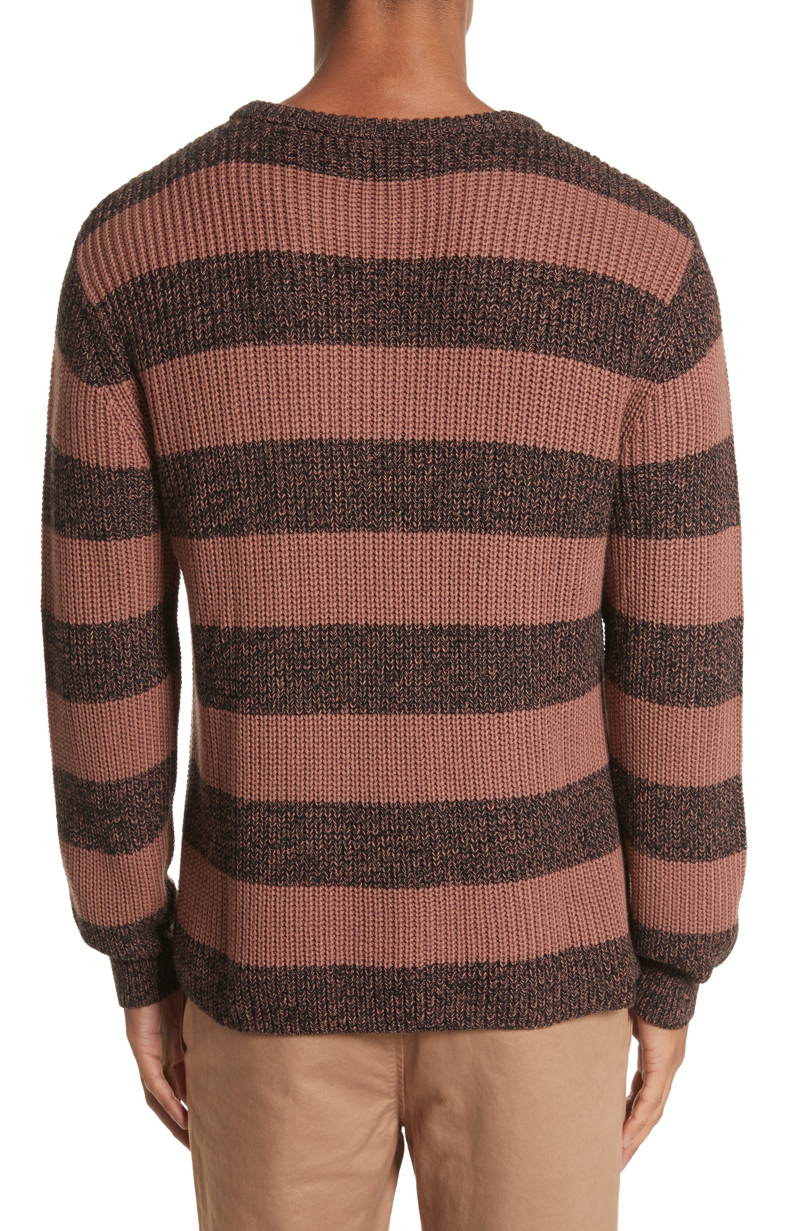 Alternate Image 2  - Saturdays NYC Lee Stripe Crewneck Sweater