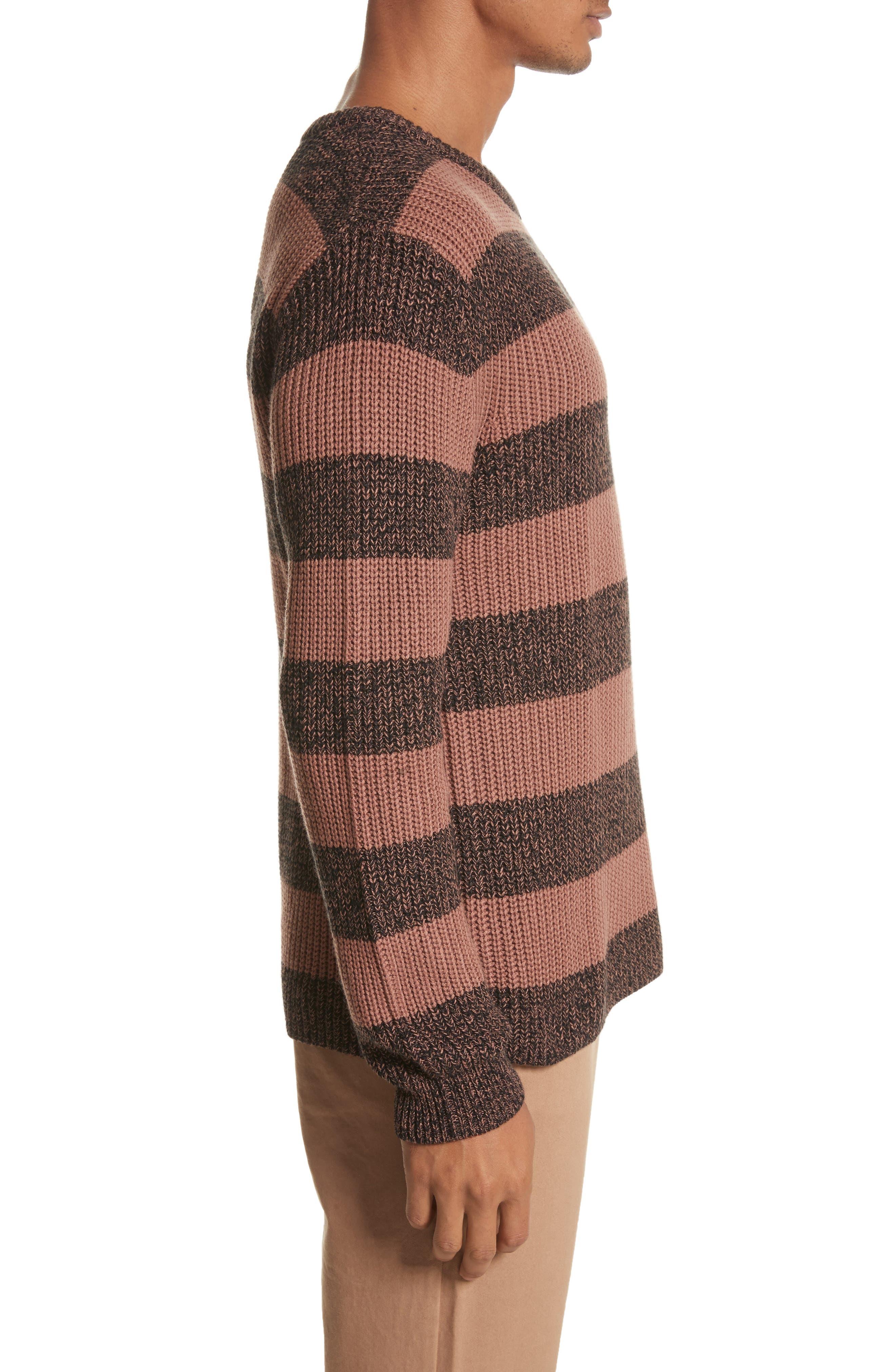 Alternate Image 3  - Saturdays NYC Lee Stripe Crewneck Sweater