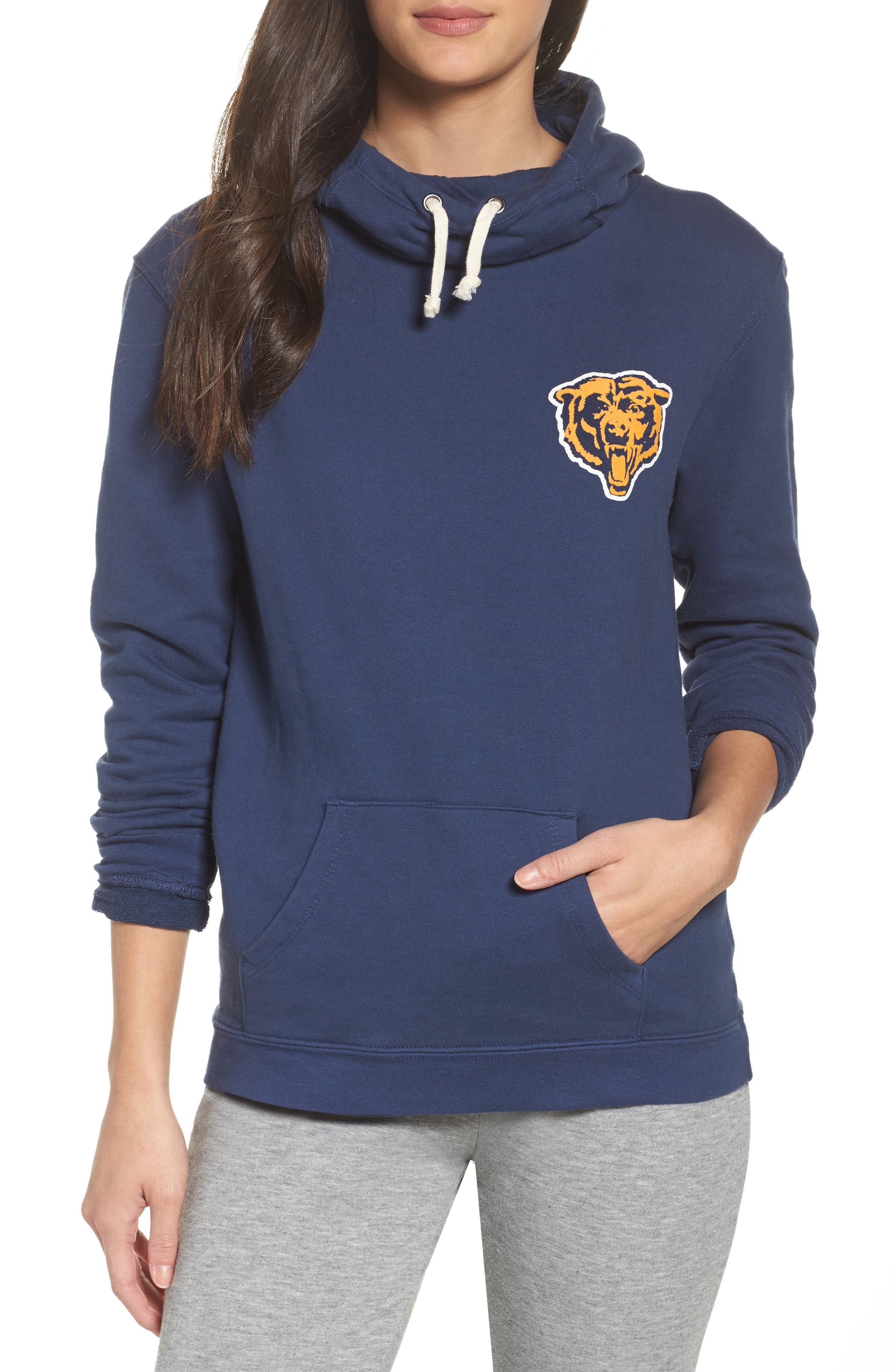 NFL Chicago Bears Sunday Hoodie,                         Main,                         color, True Navy