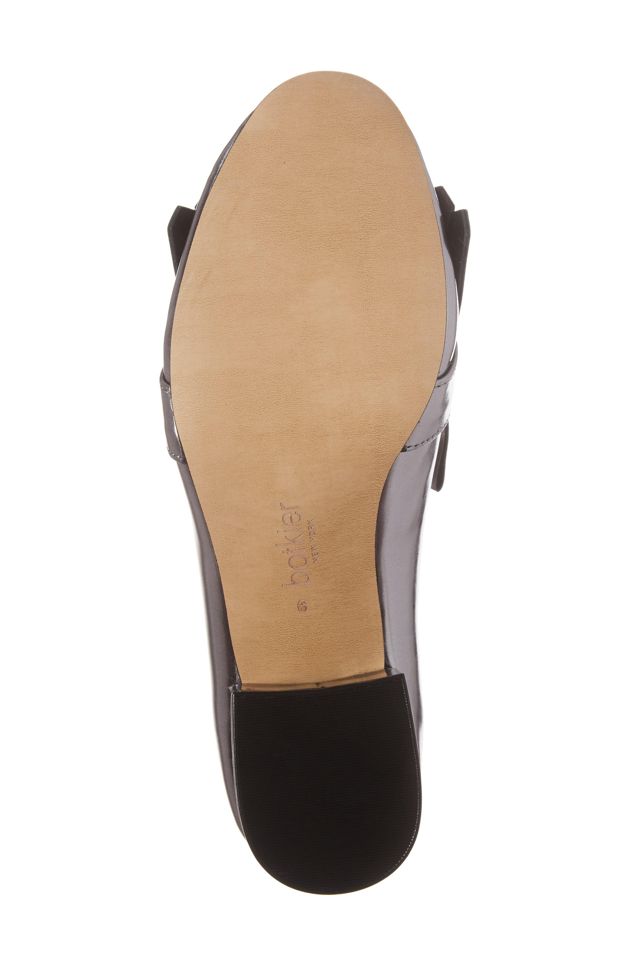 Olive Loafer Pump,                             Alternate thumbnail 6, color,                             Pewter Leather