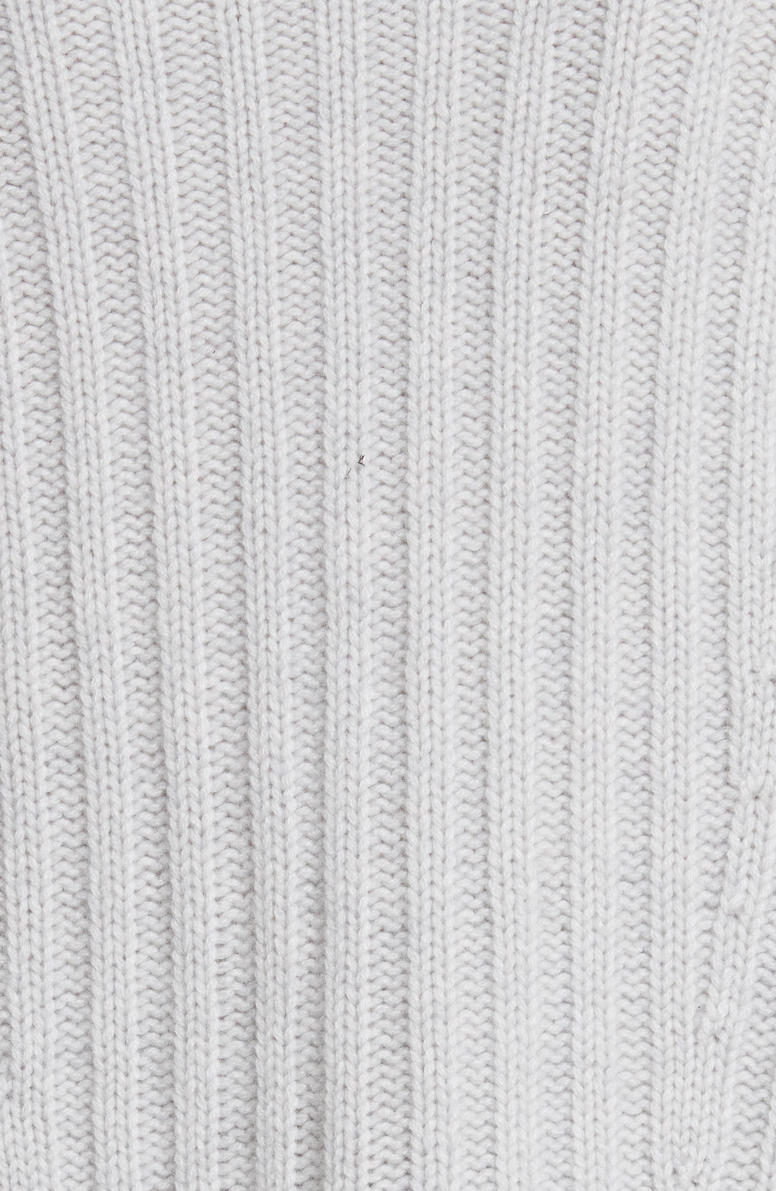 Ribbed Wool & Cashmere Sweater,                             Alternate thumbnail 5, color,                             Light Heather Grey